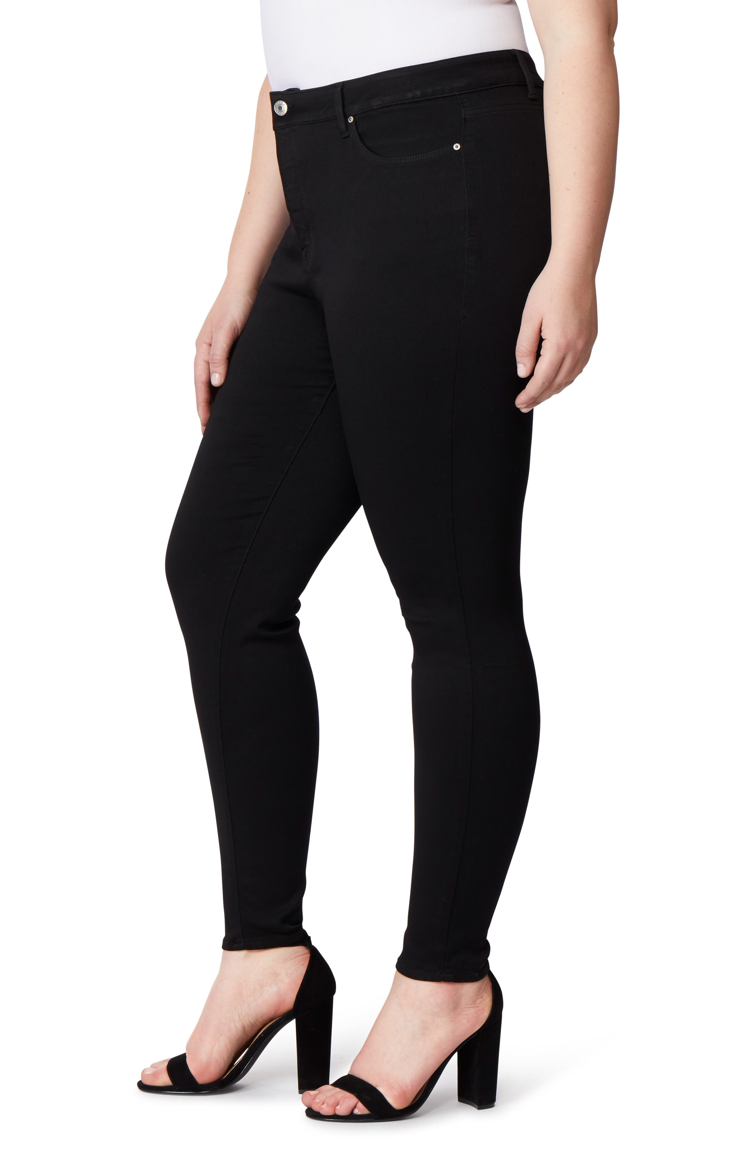 Pin-Up Skinny Jeans,                             Alternate thumbnail 3, color,                             ECLIPSE