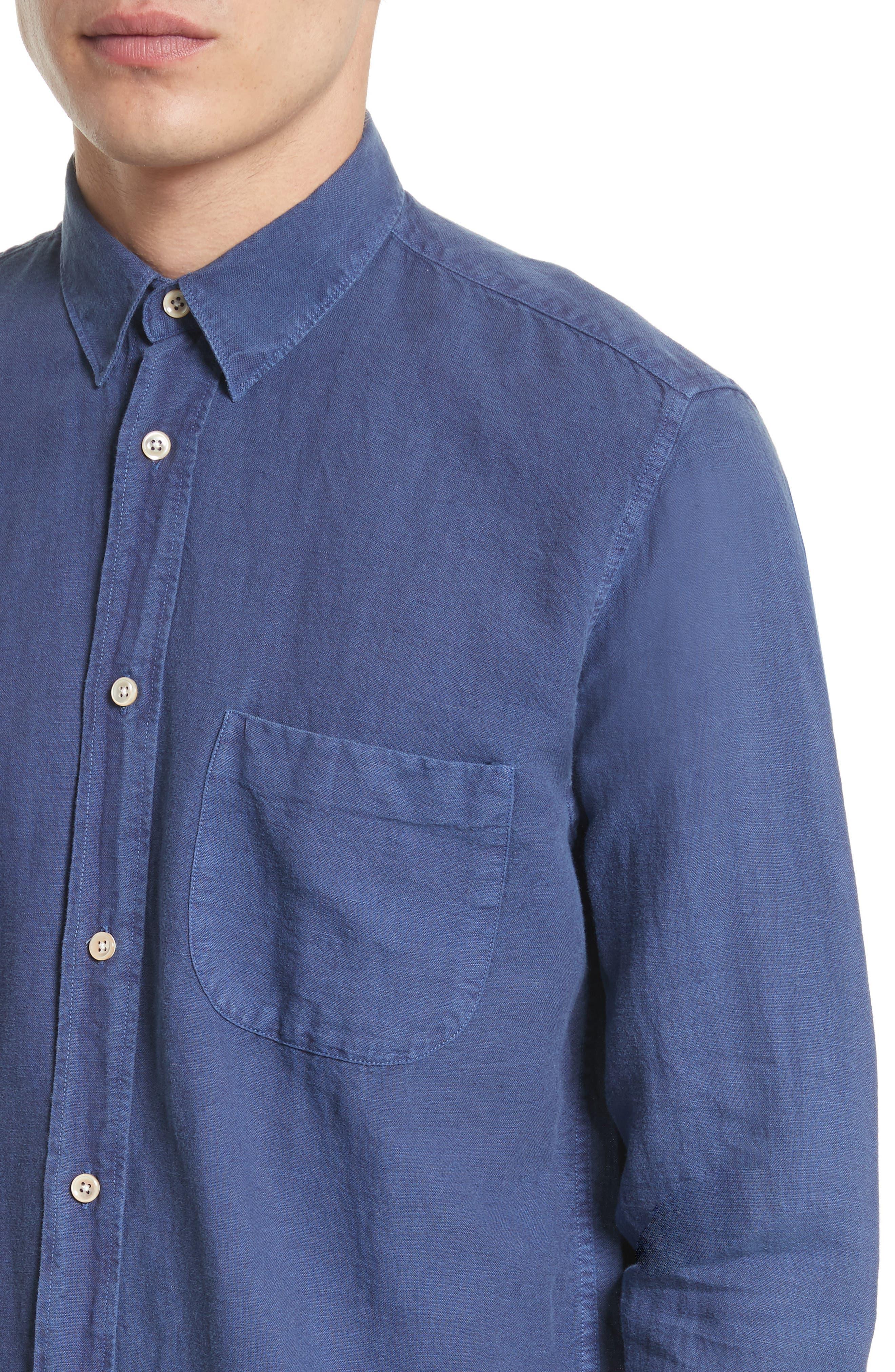 Generation Linen & Cotton Sport Shirt,                             Alternate thumbnail 5, color,                             450