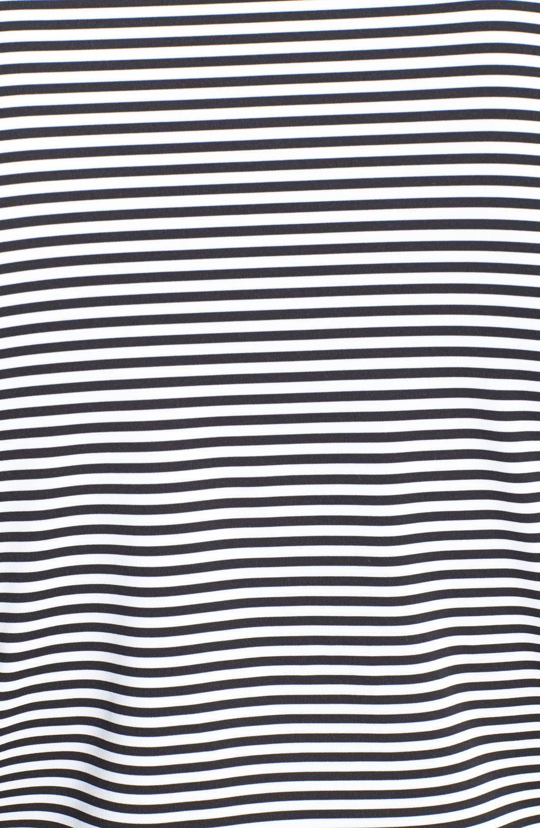 'Competition' Stripe Stretch MicrofiberGolf Polo,                             Alternate thumbnail 3, color,                             001