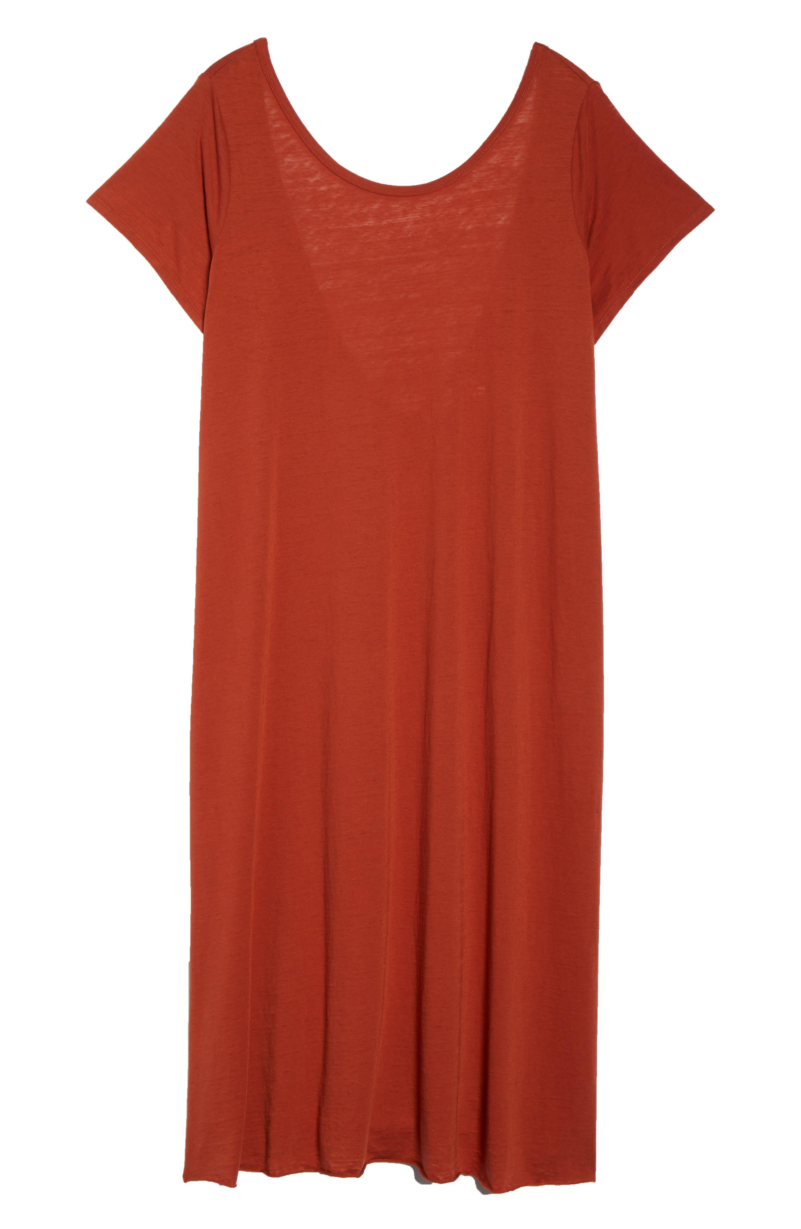 Easy Burnout Cover-Up T-Shirt Dress,                             Alternate thumbnail 6, color,                             221