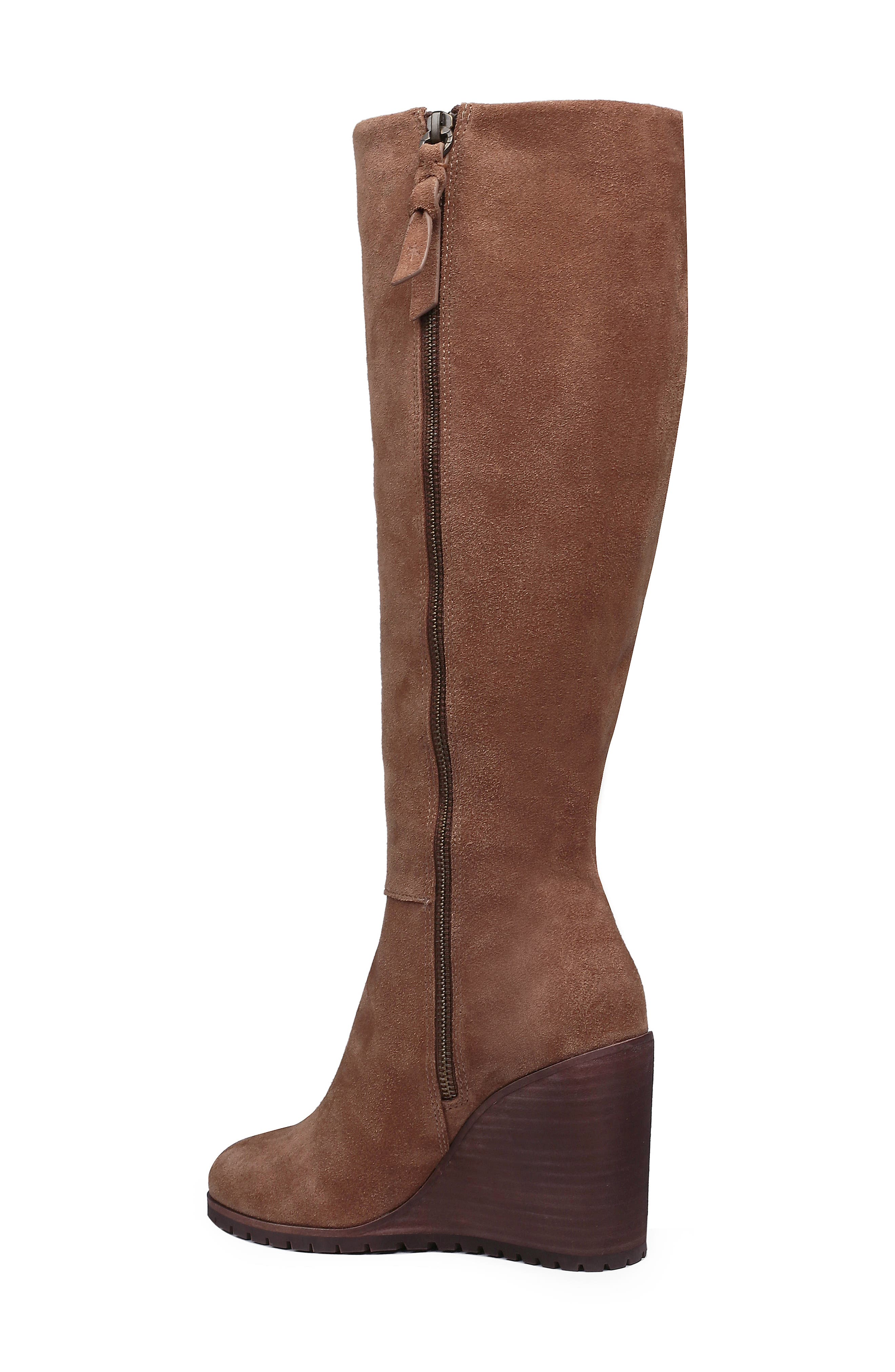 Cleveland Wedge Boot,                             Alternate thumbnail 2, color,                             LIGHT BROWN SUEDE