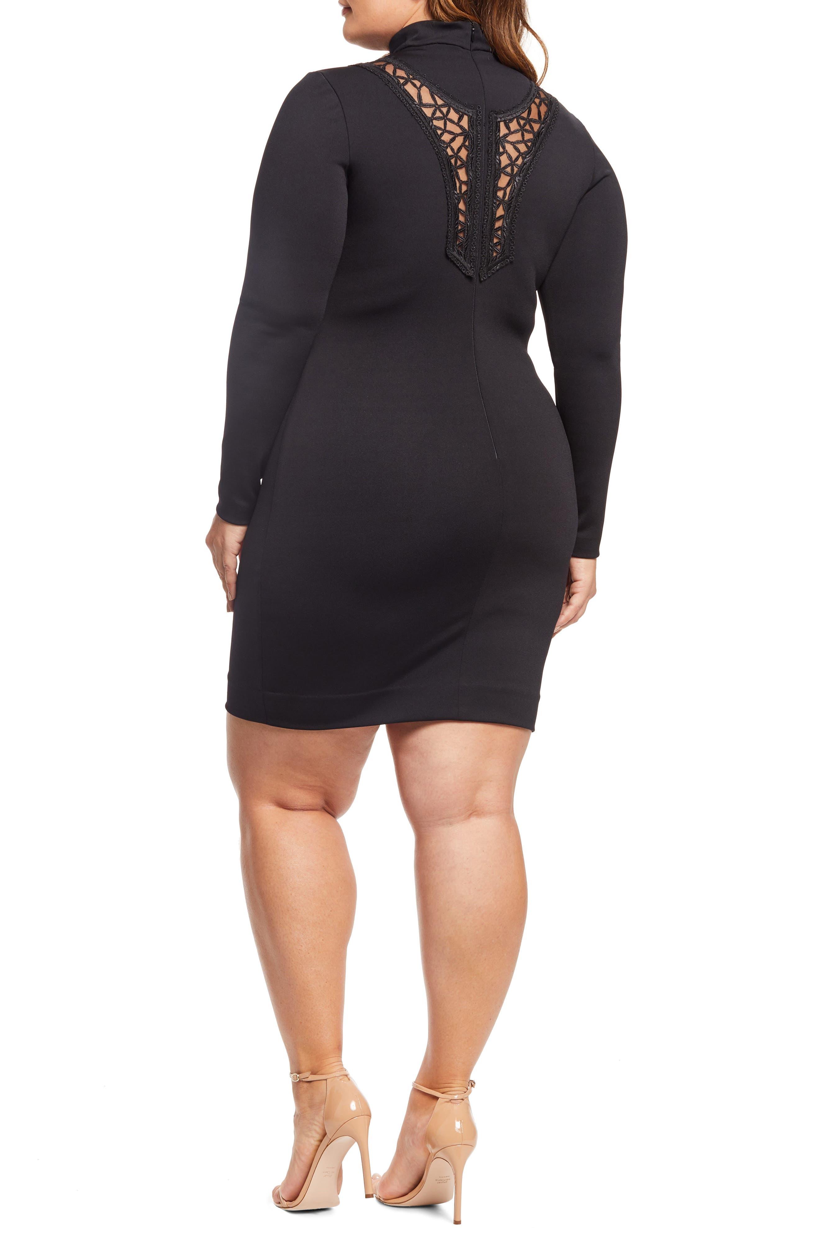 Hayden Embellished Dress,                             Alternate thumbnail 2, color,                             BLACK