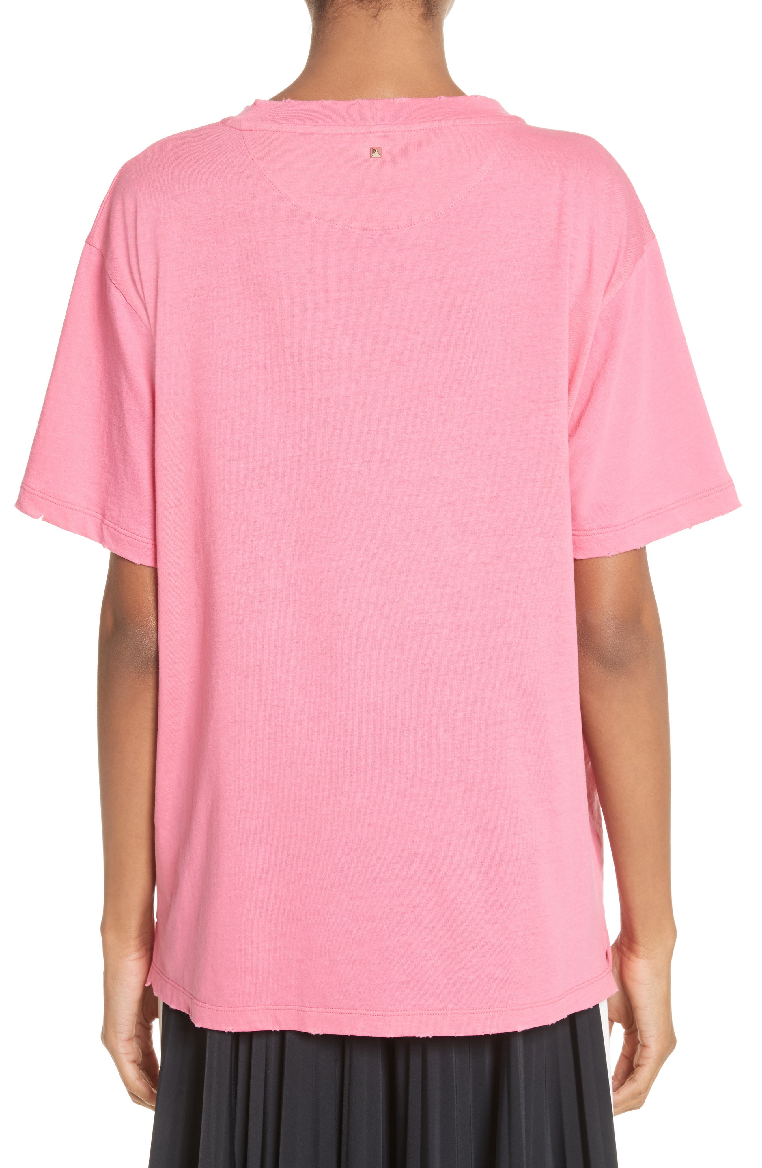 Pink Is Punk Cotton Tee,                             Alternate thumbnail 2, color,                             664