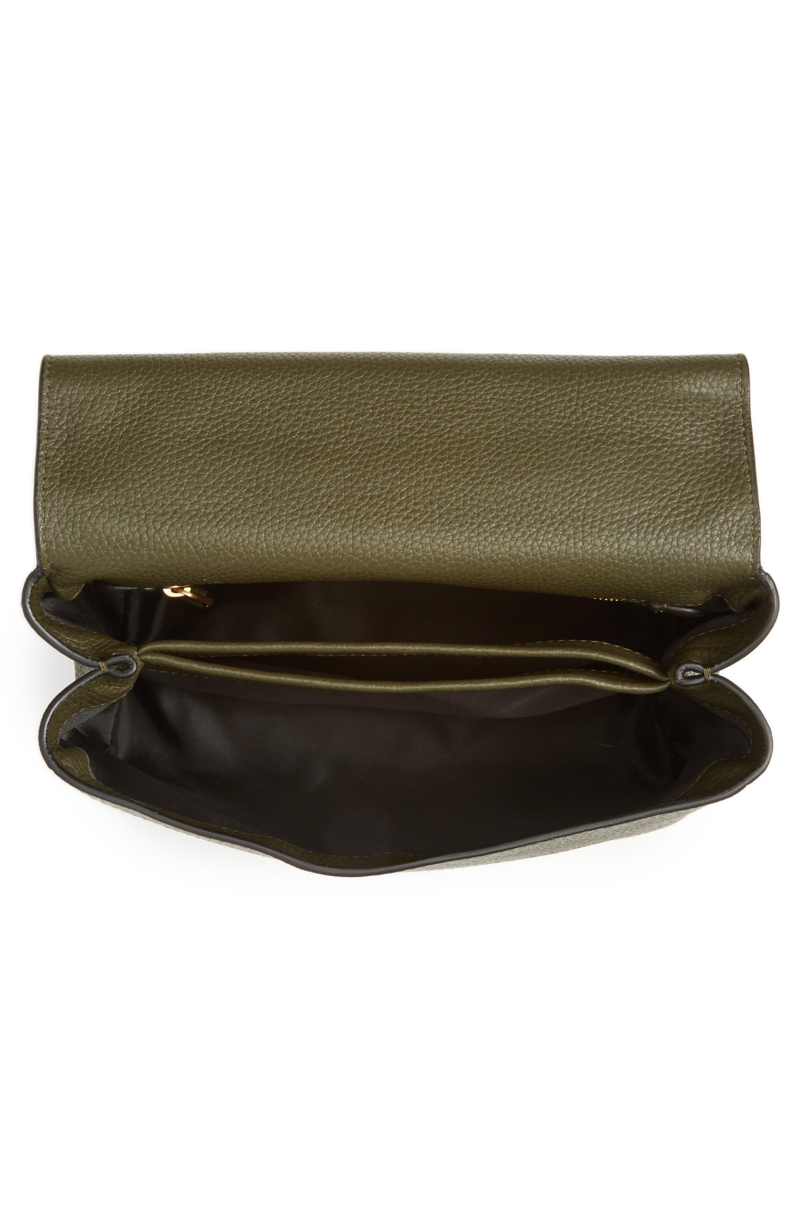 Grainy-B Leather Crossbody Bag,                             Alternate thumbnail 7, color,