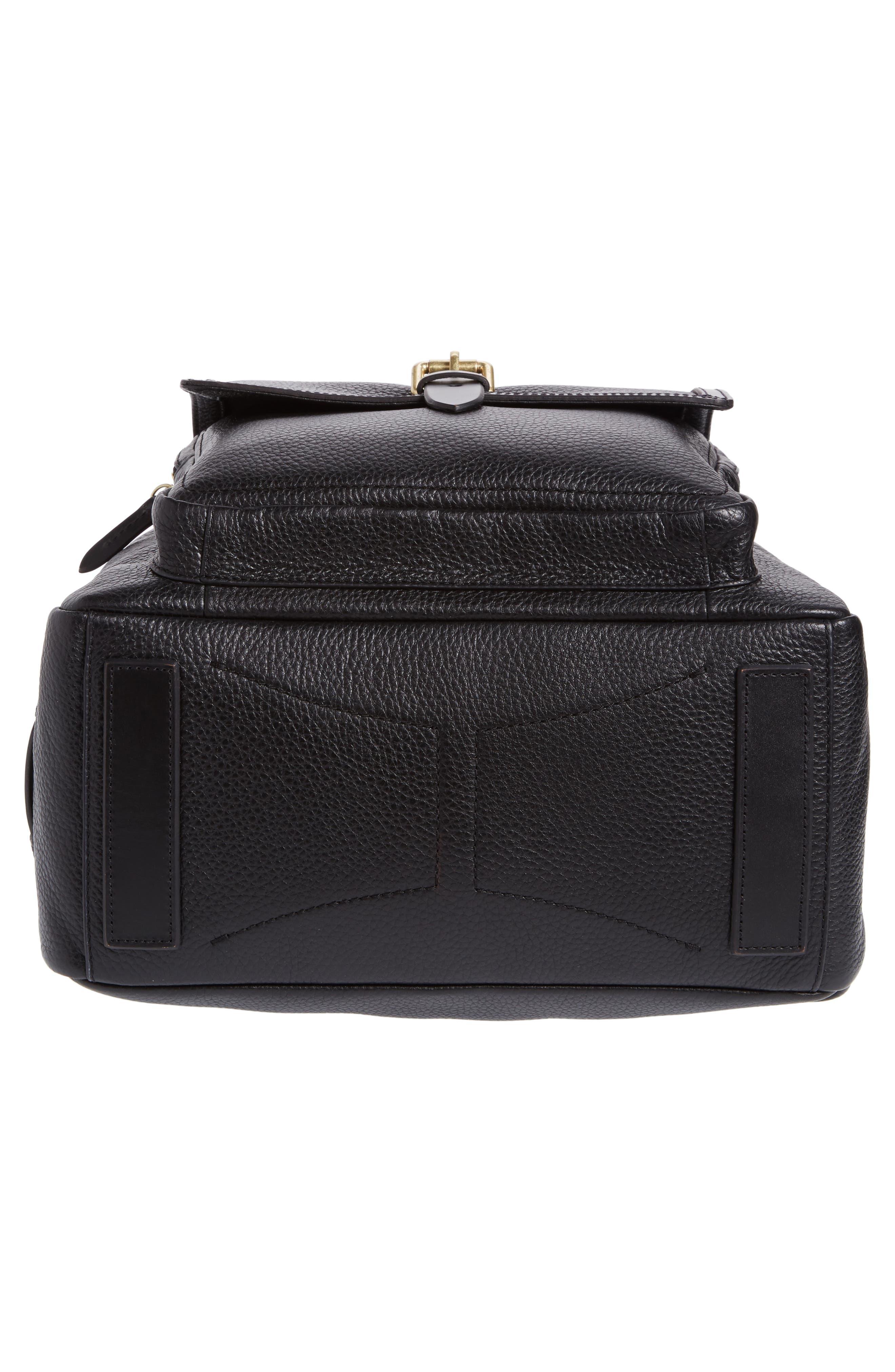 Brayton Leather Backpack,                             Alternate thumbnail 6, color,                             001
