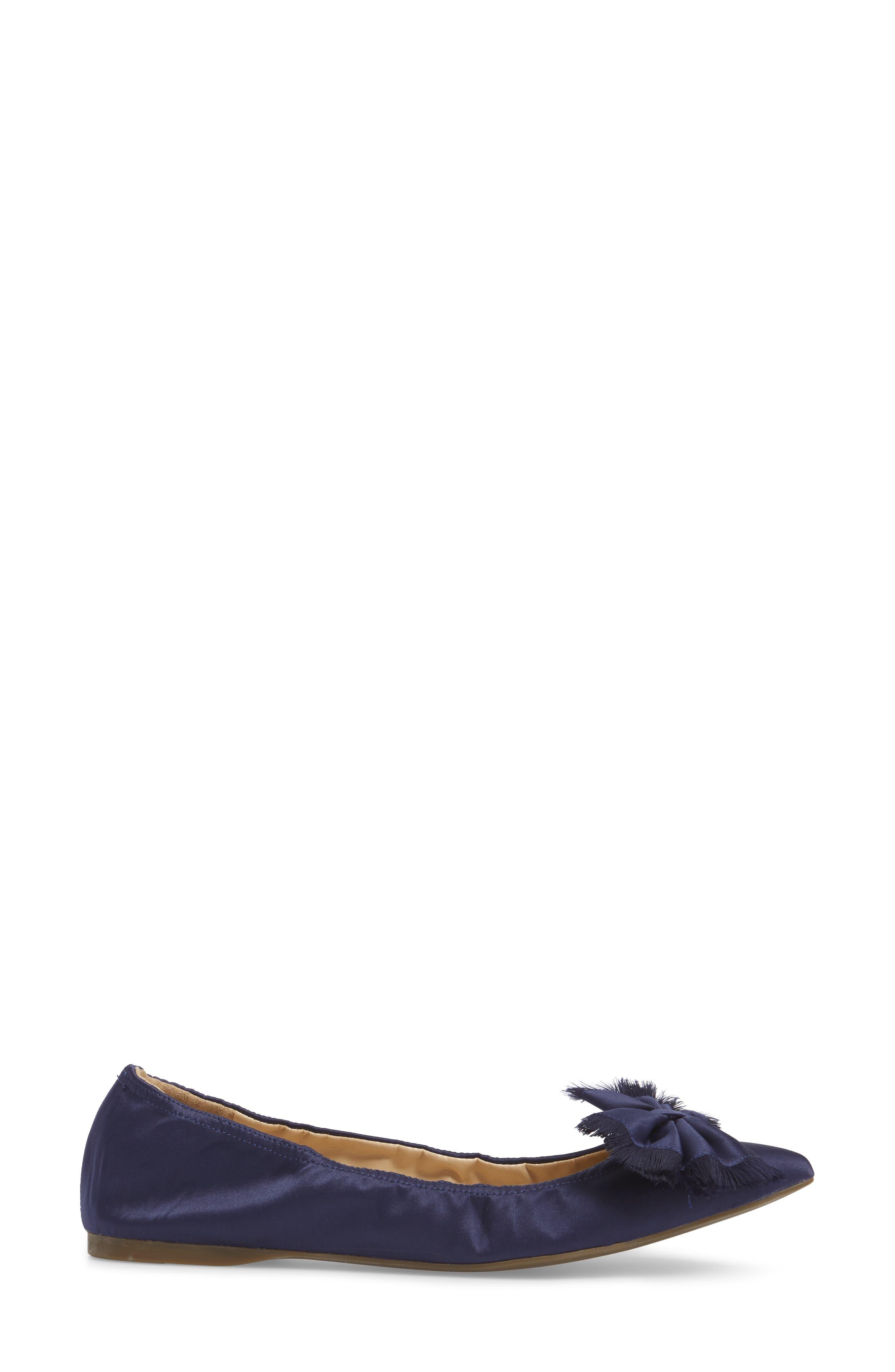 Lottie Frayed Bow Flat,                             Alternate thumbnail 8, color,