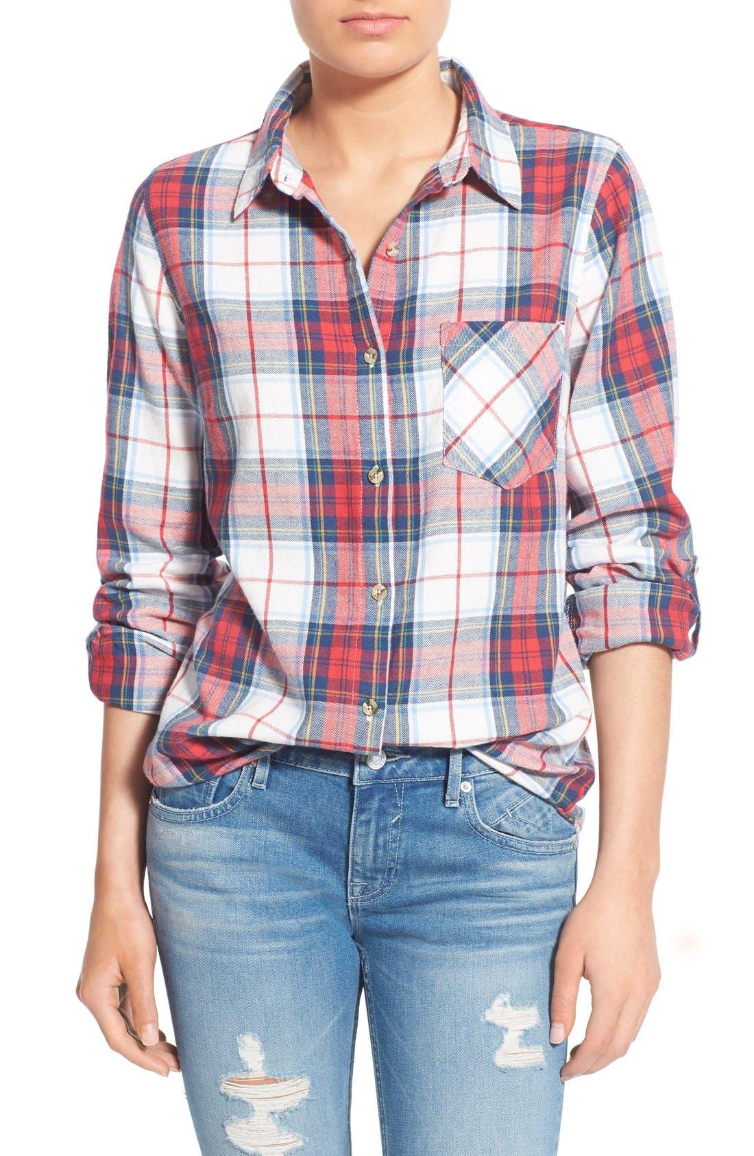 THREAD & SUPPLY 'Humboldt' Plaid Shirt, Main, color, 600
