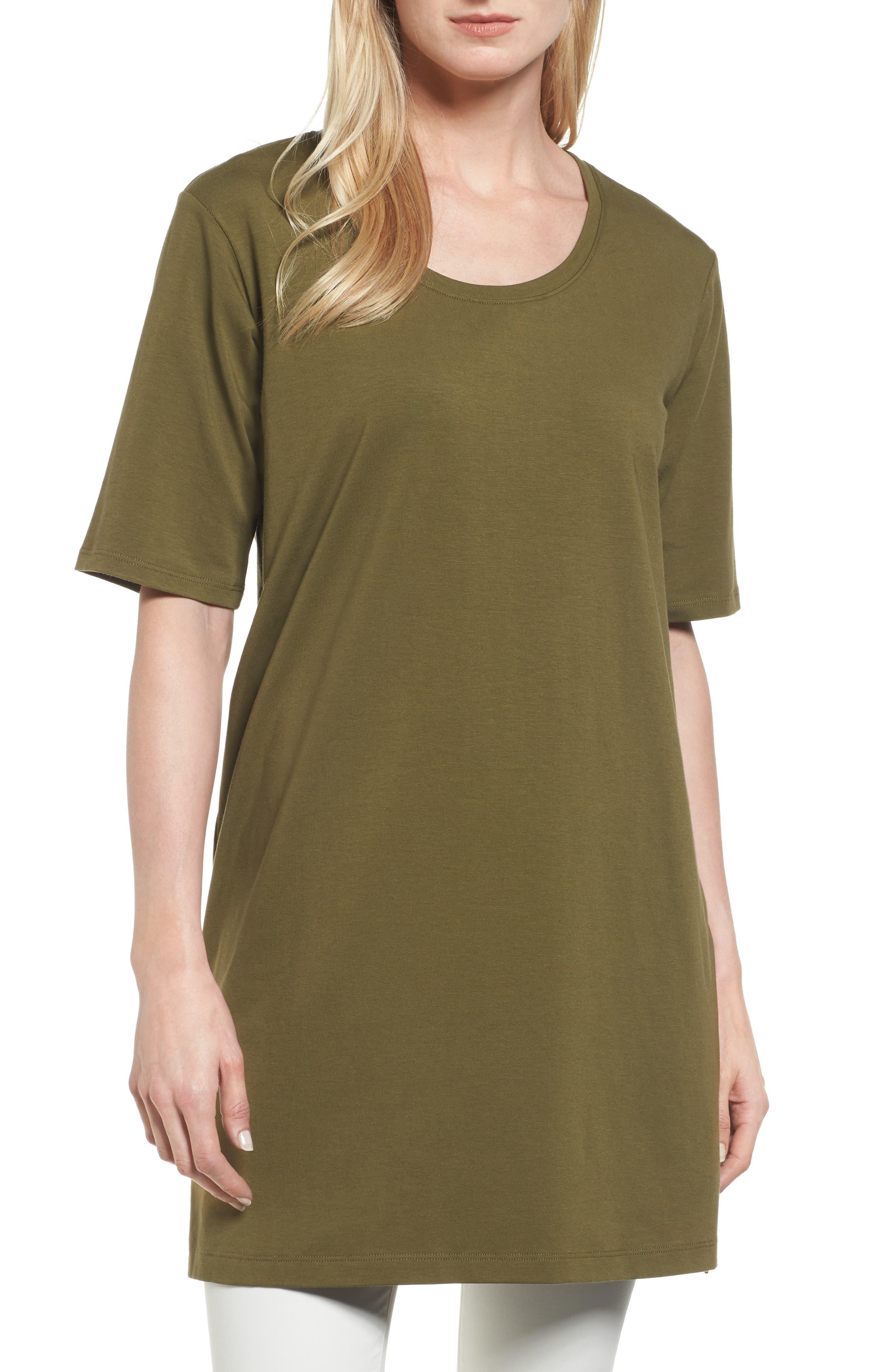 Stretch Organic Cotton Jersey Tunic,                             Main thumbnail 6, color,