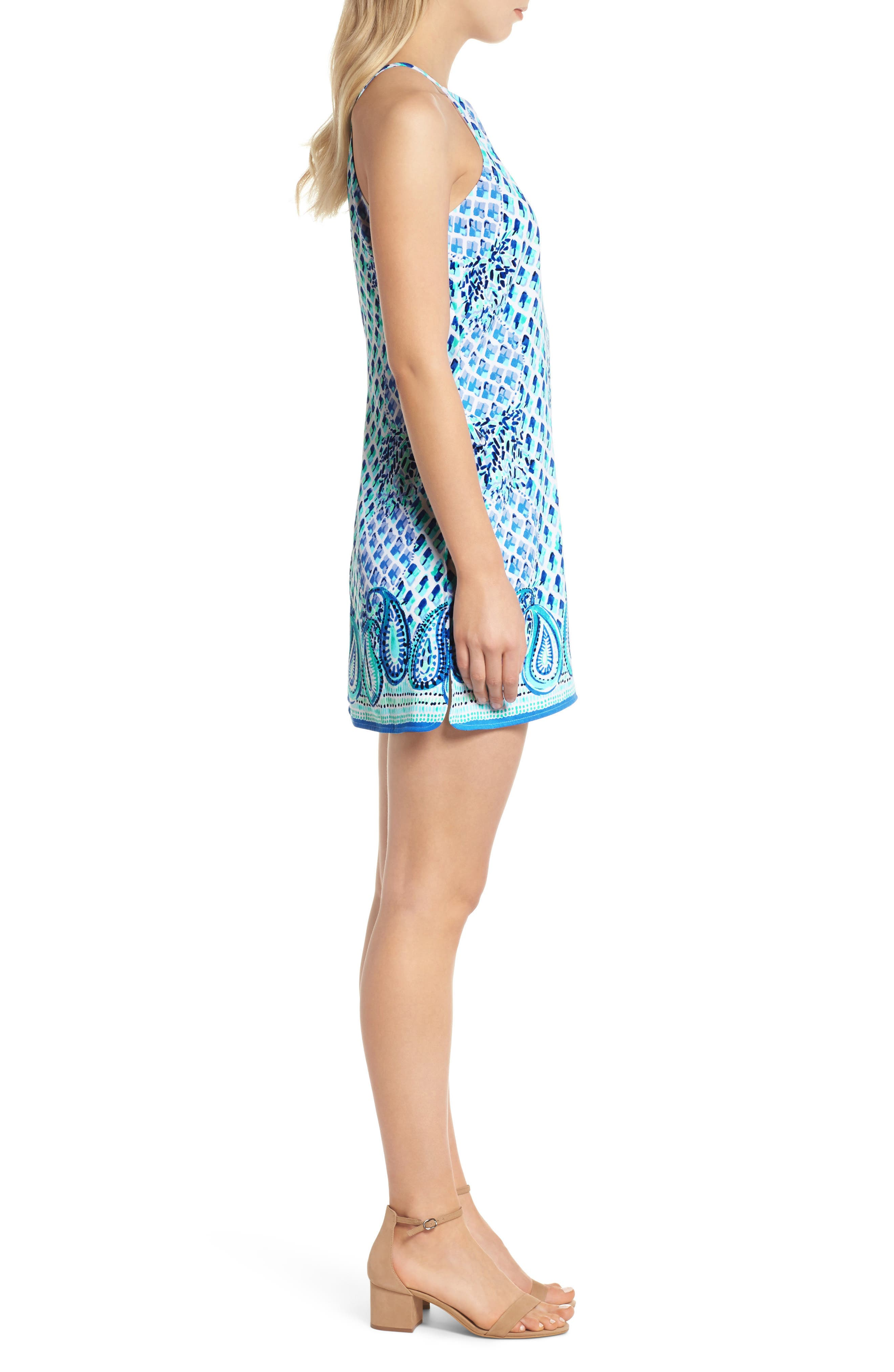 LILLY PULITZER<SUP>®</SUP>,                             Pearl Romper Dress,                             Alternate thumbnail 3, color,                             400