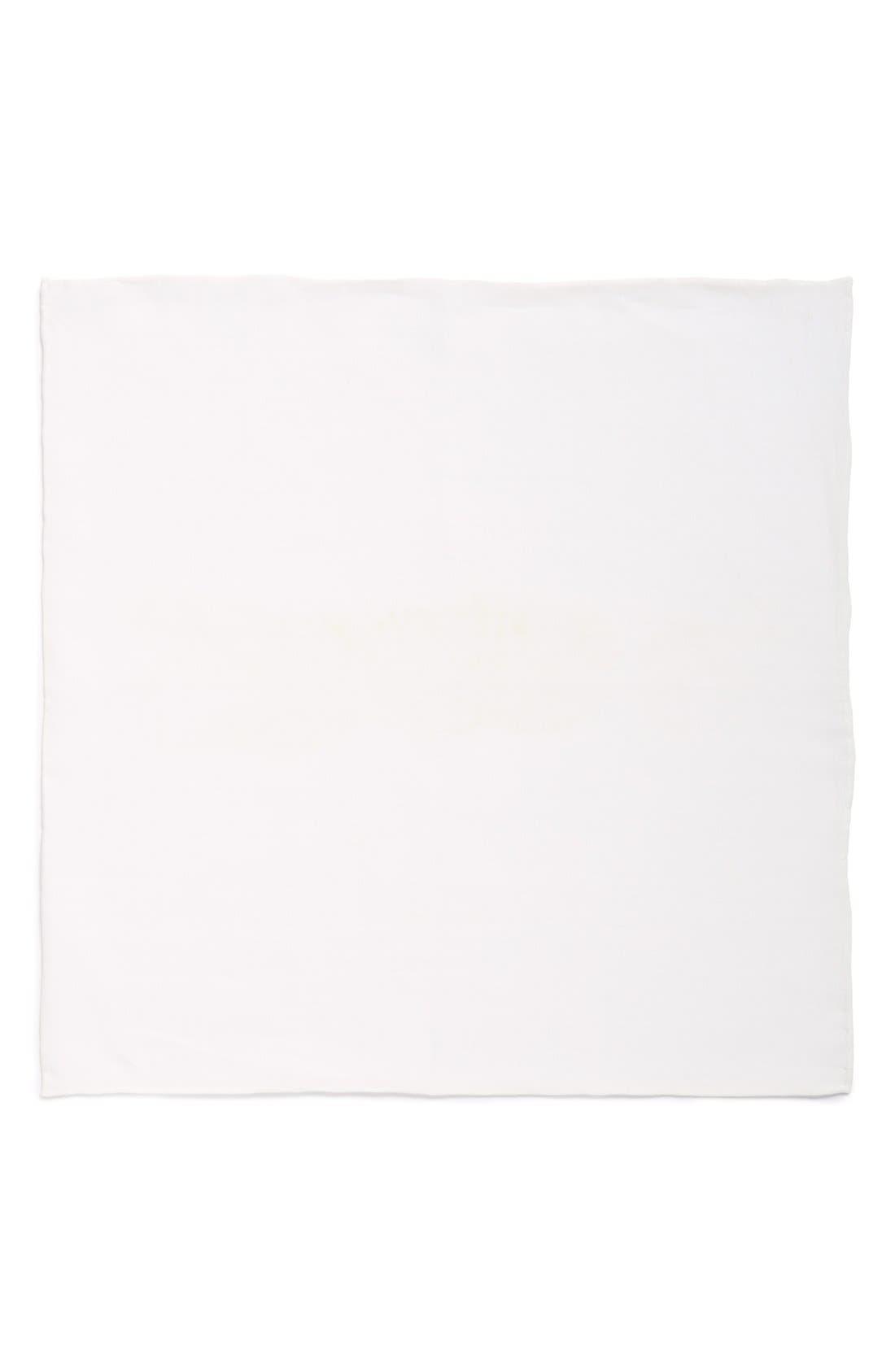 Solid Linen Pocket Square,                             Alternate thumbnail 5, color,                             100