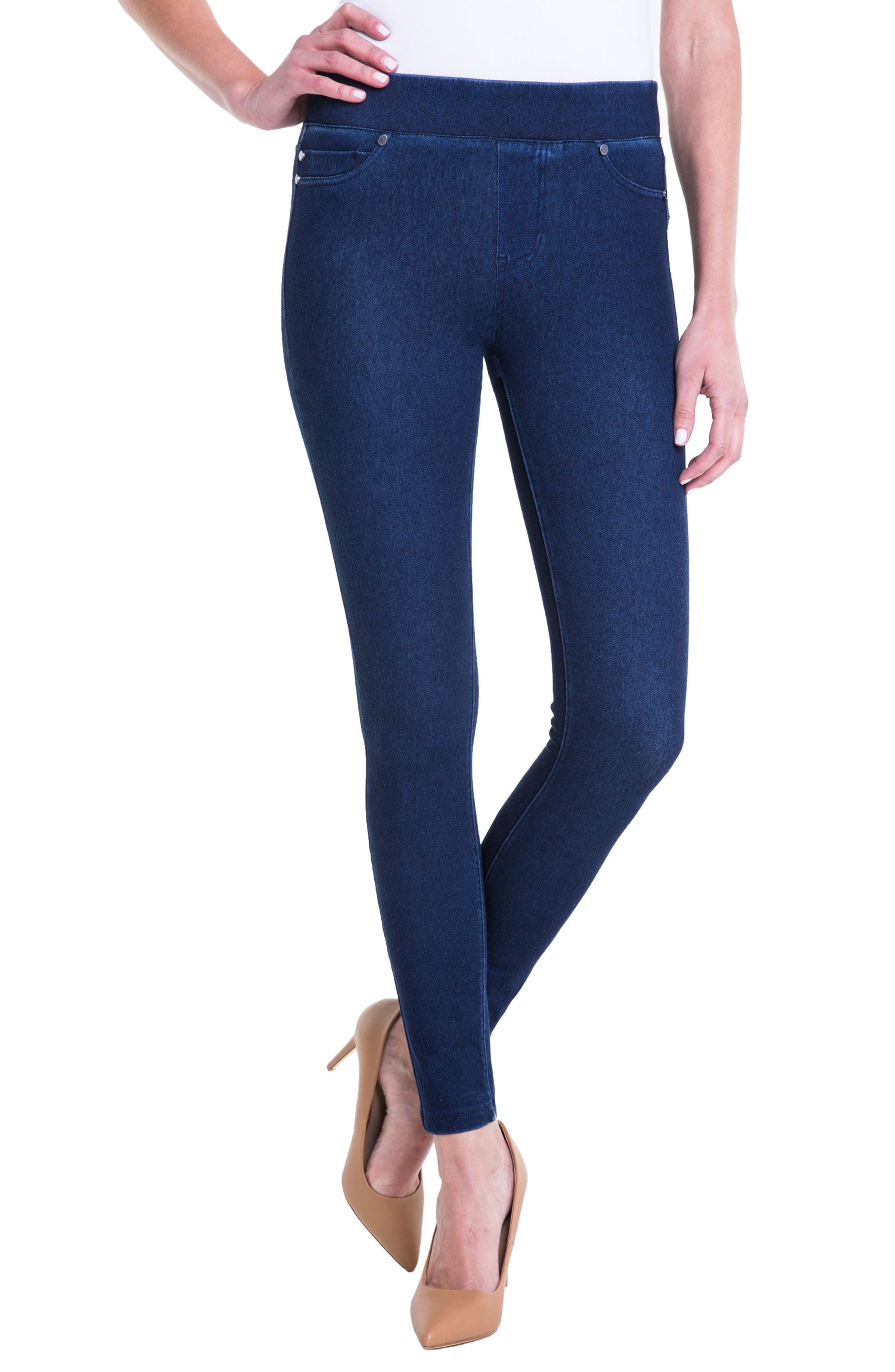 Sienna Pull-On Ankle Legging Jeans,                         Main,                         color, 403