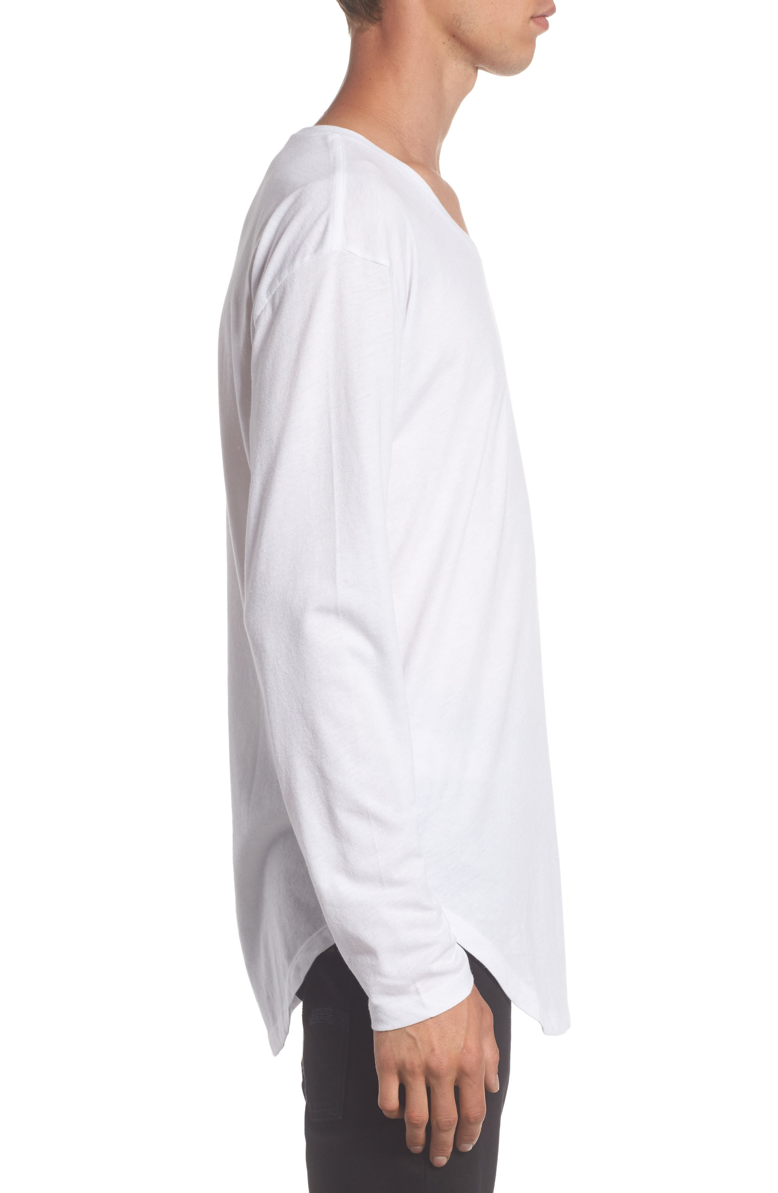Shirttail T-Shirt,                             Alternate thumbnail 6, color,