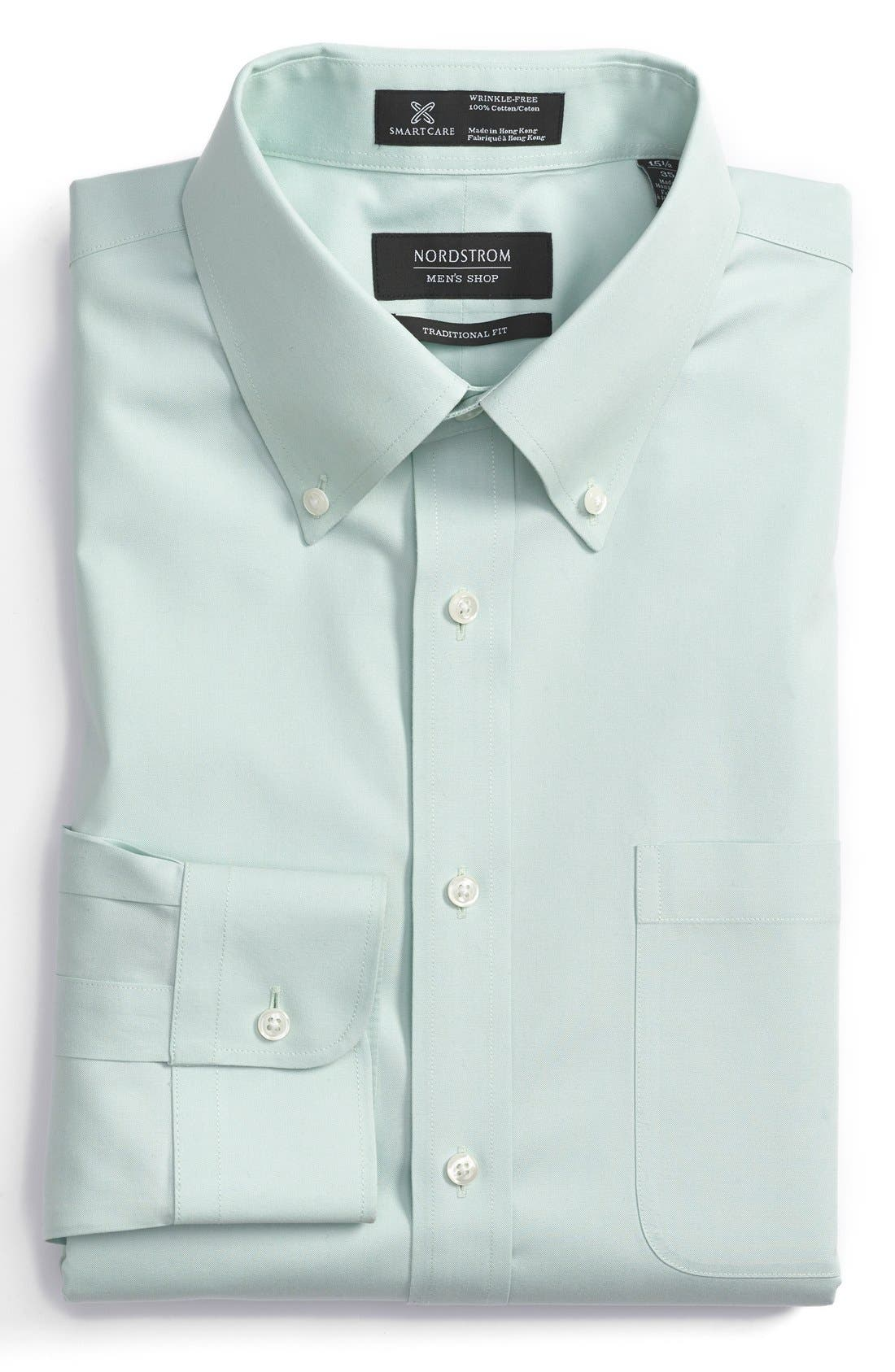 Smartcare<sup>™</sup> Traditional Fit Pinpoint Dress Shirt,                             Main thumbnail 6, color,