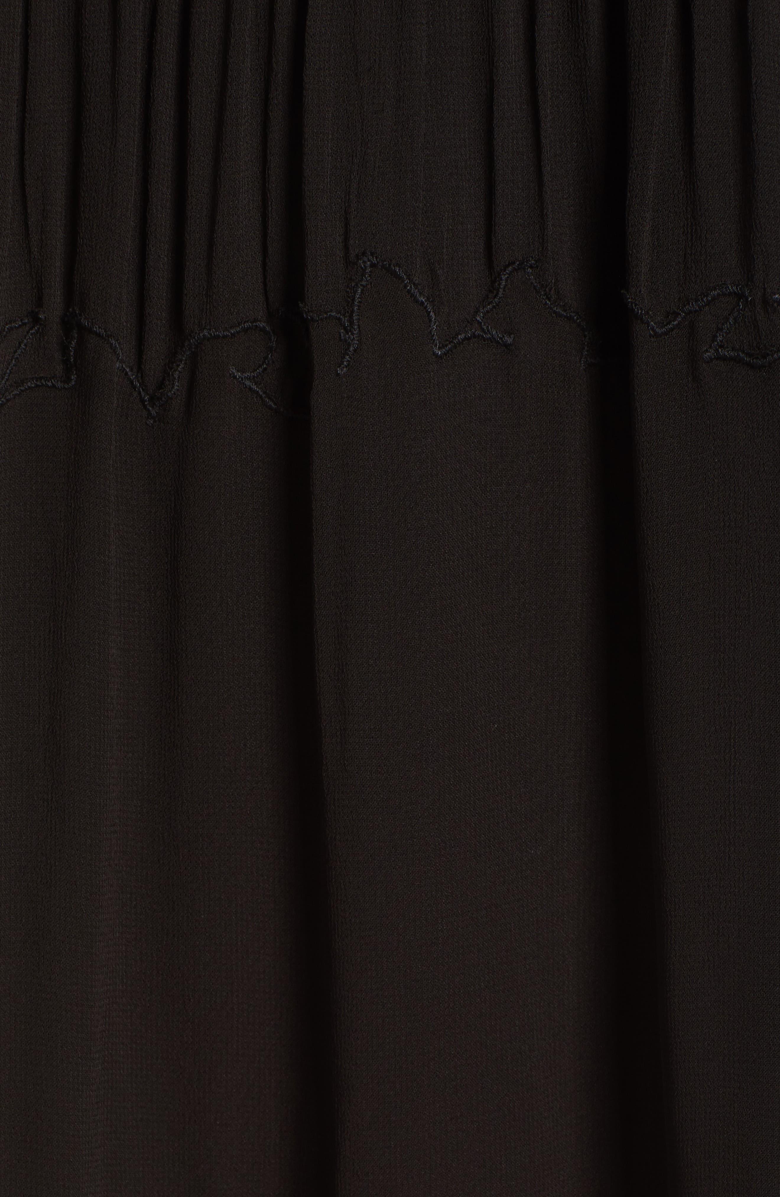 Laos Chiffon Pintuck Dress,                             Alternate thumbnail 5, color,                             001