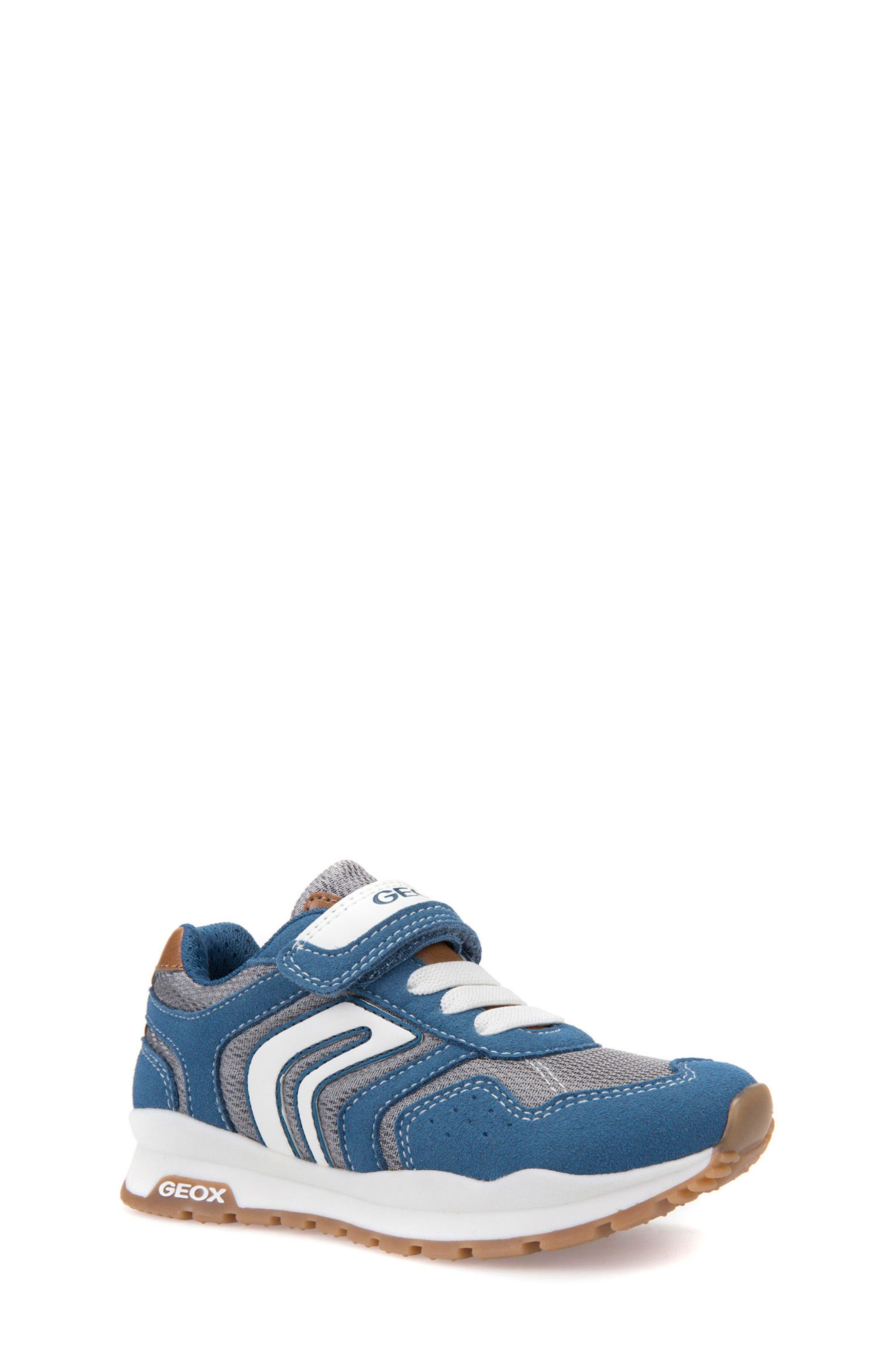 Boys Geox Pavel Low Top Sneaker Size 65US  40EU  Blue