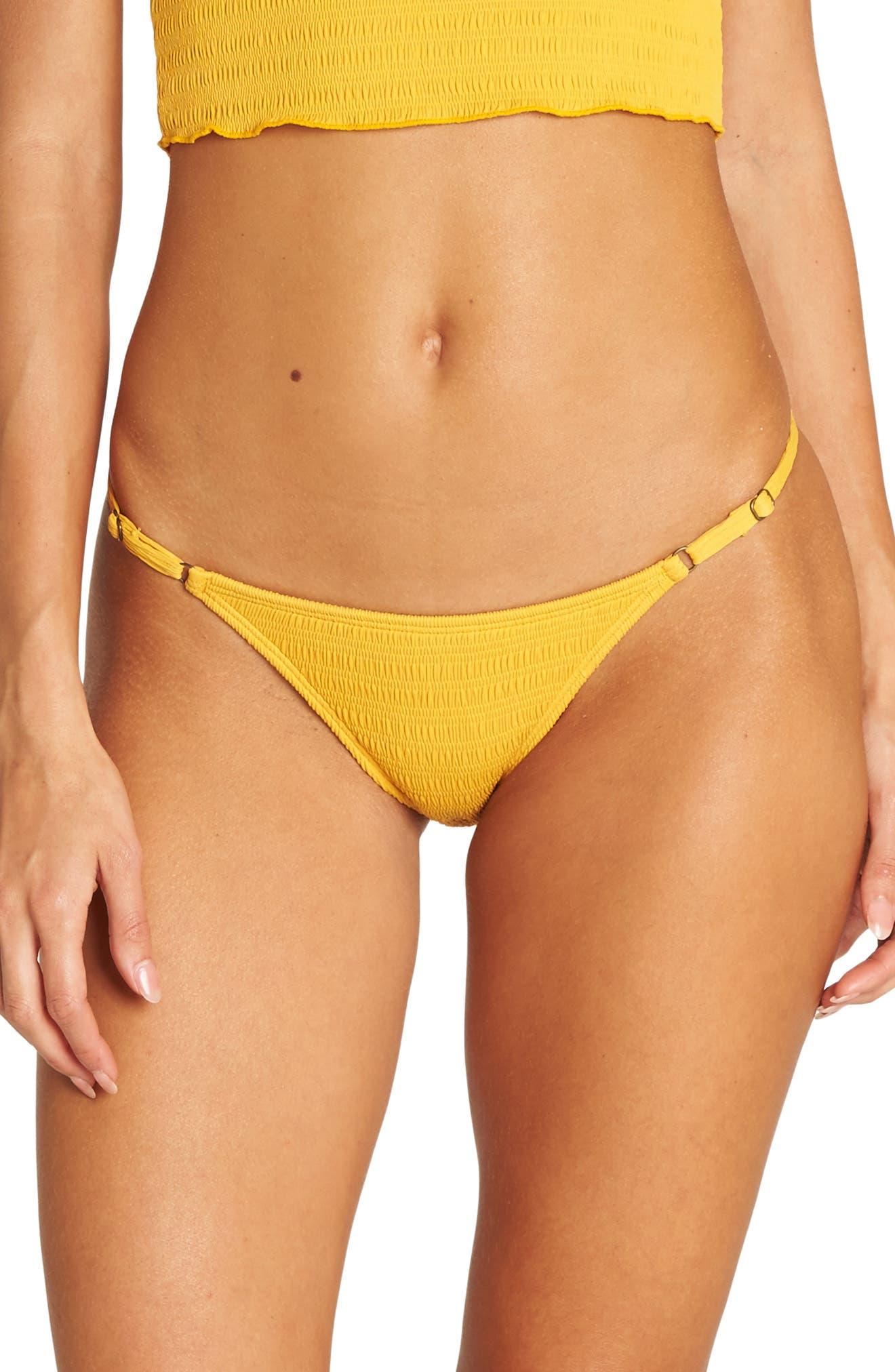 BILLABONG,                             Sunrise Isla Bikini Bottoms,                             Main thumbnail 1, color,                             GOLDEN GLOW