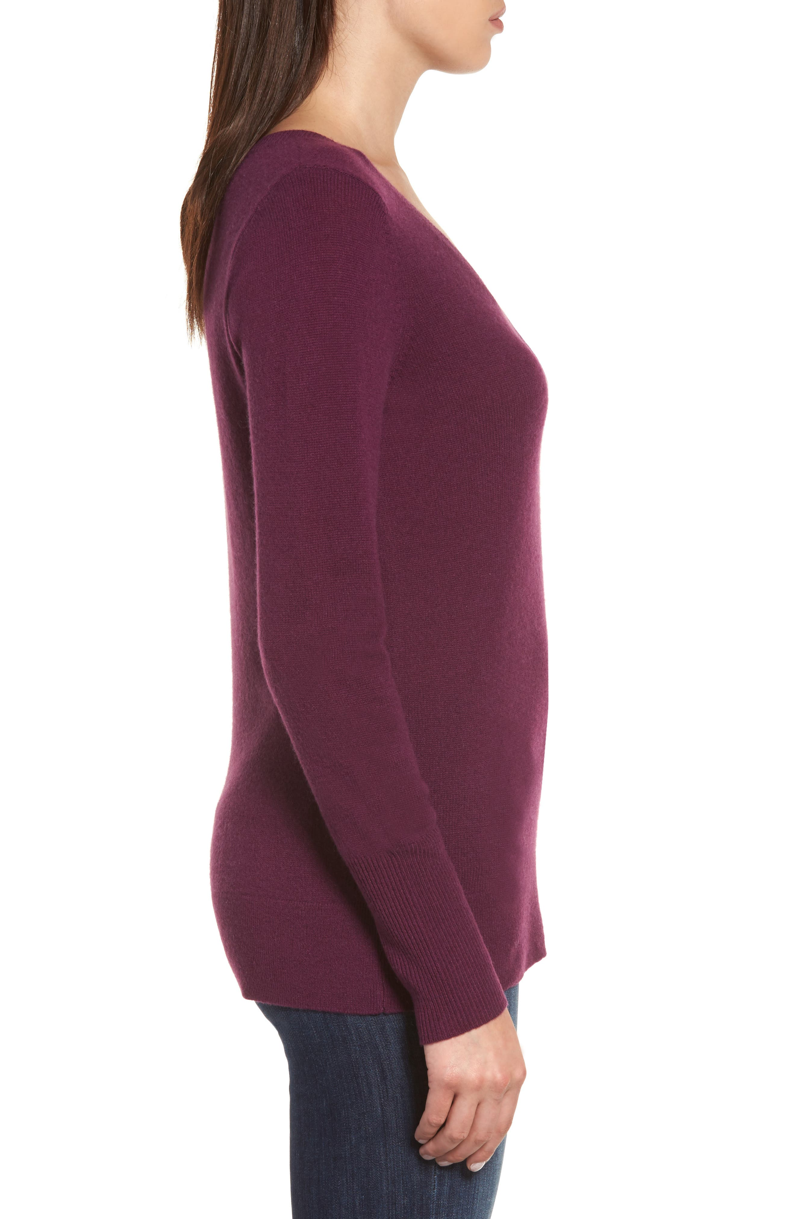 V-Neck Cashmere Sweater,                             Alternate thumbnail 43, color,
