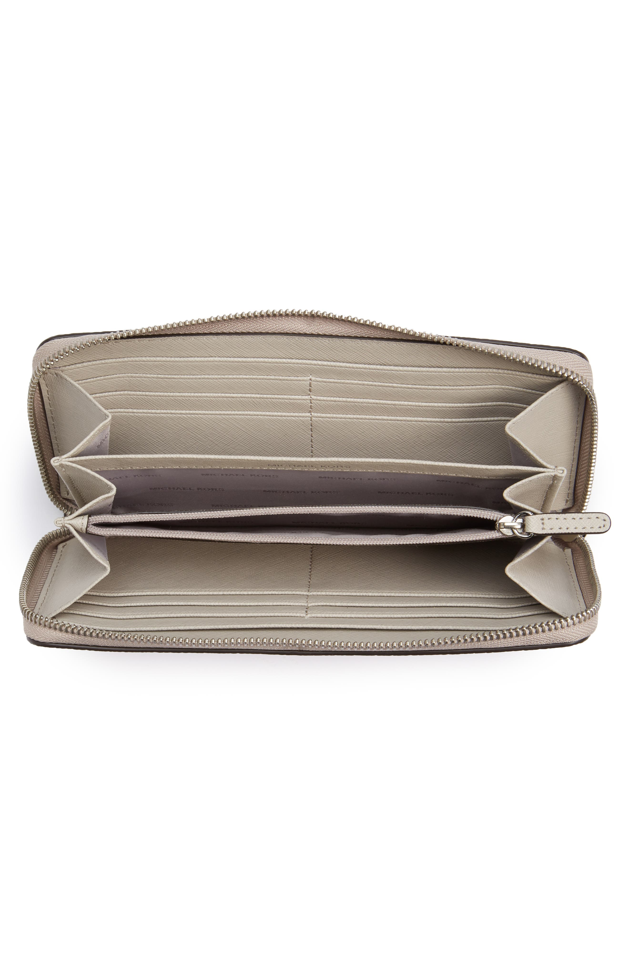 Mercer Leather Continental Wallet,                             Alternate thumbnail 4, color,