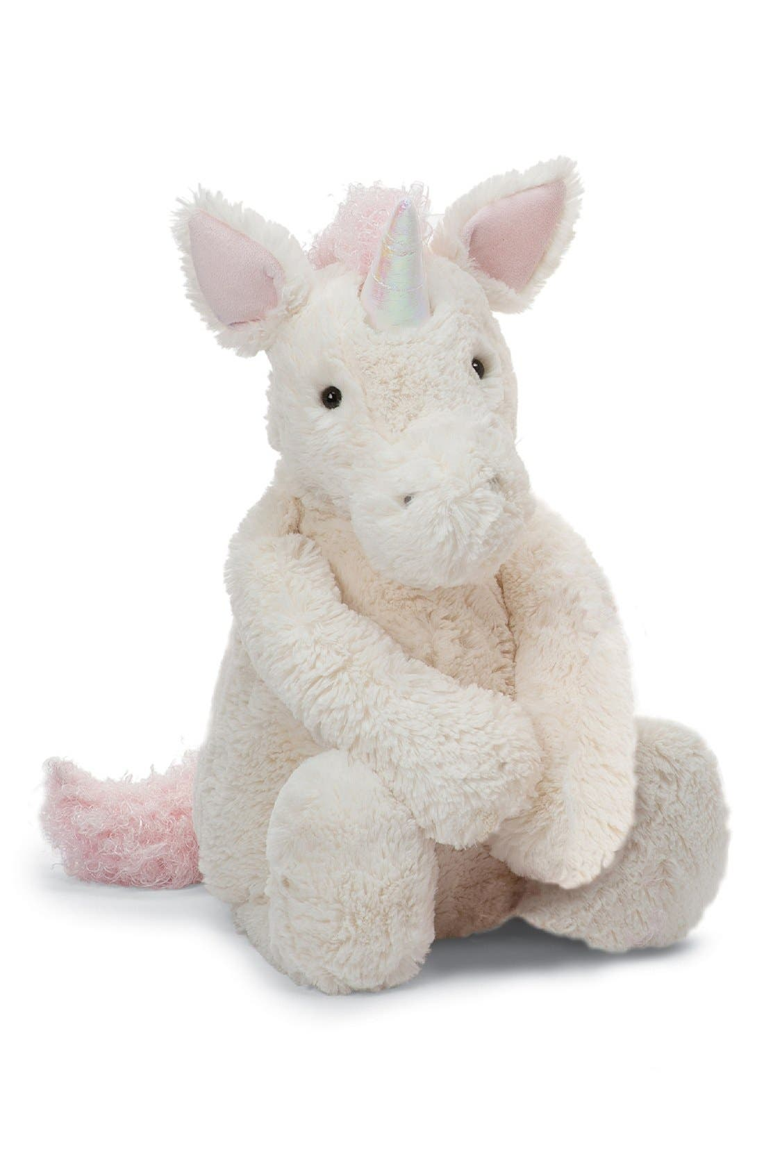 'Really Big Bashful Unicorn' Stuffed Animal,                             Main thumbnail 1, color,                             IVORY