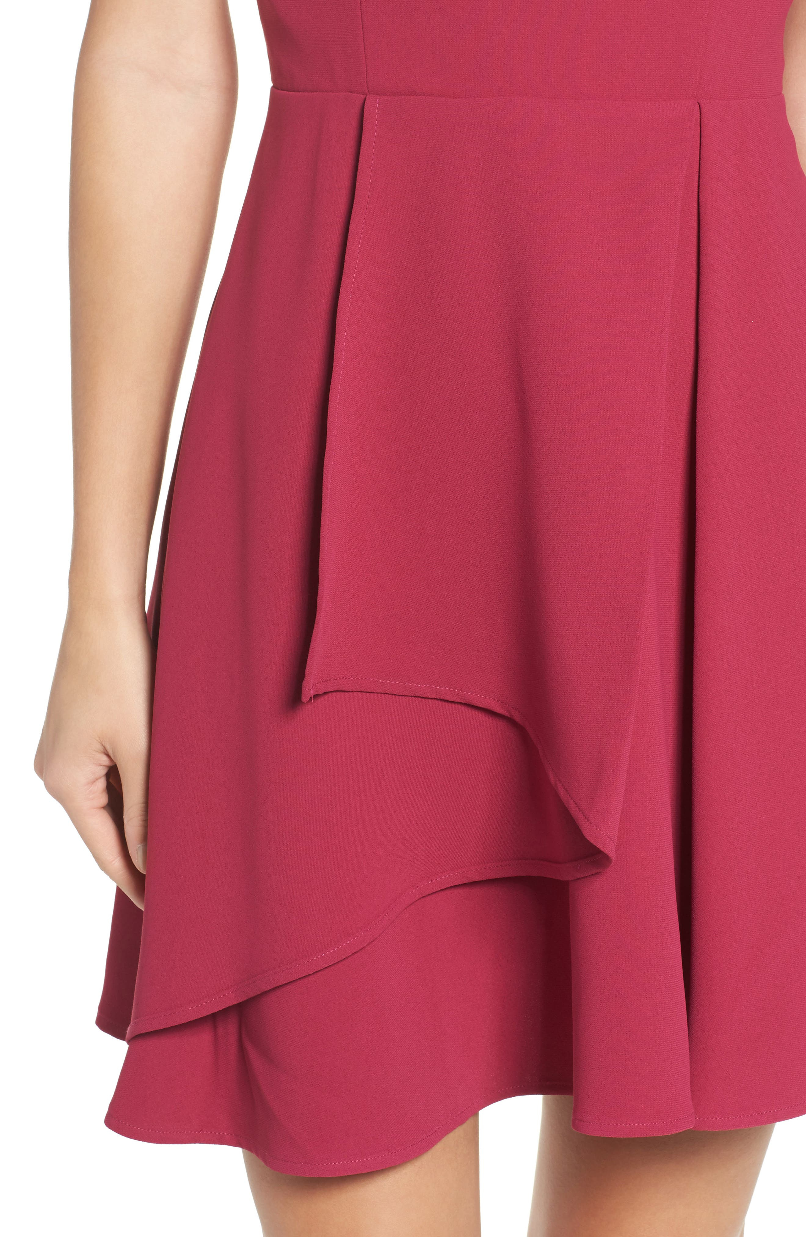 Athena Fit & Flare Dress,                             Alternate thumbnail 14, color,