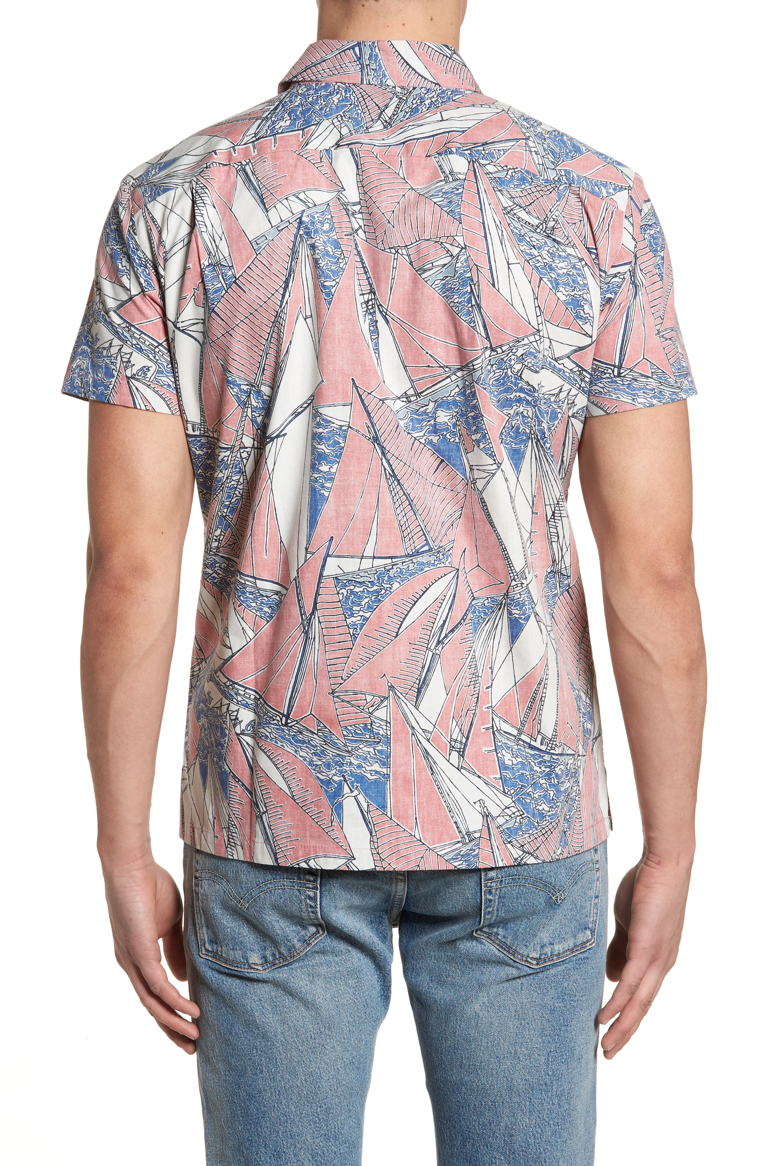 Broad Reach Trim Fit Camp Shirt,                             Alternate thumbnail 2, color,                             605