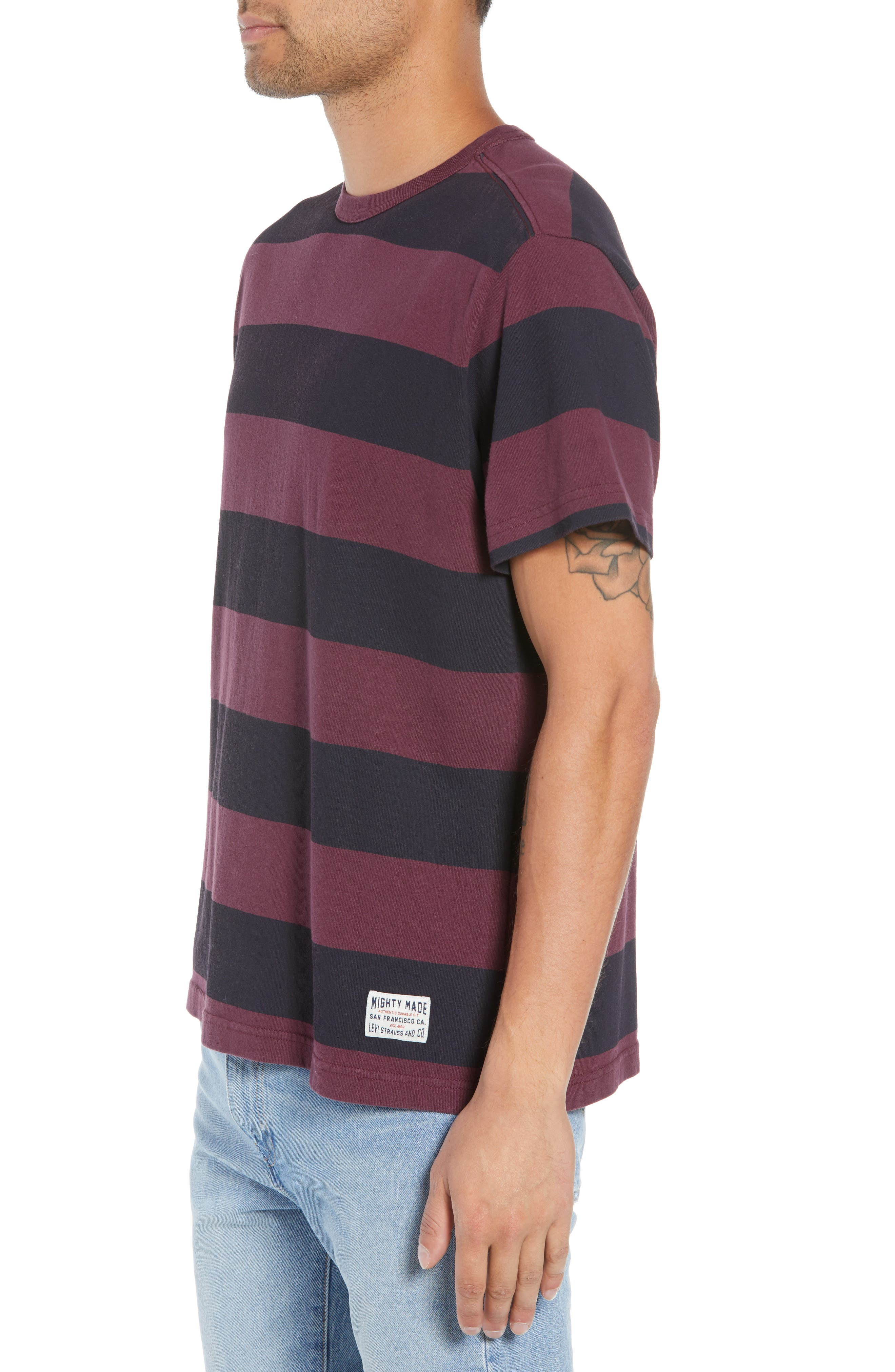 Stripe T-Shirt,                             Alternate thumbnail 3, color,                             500