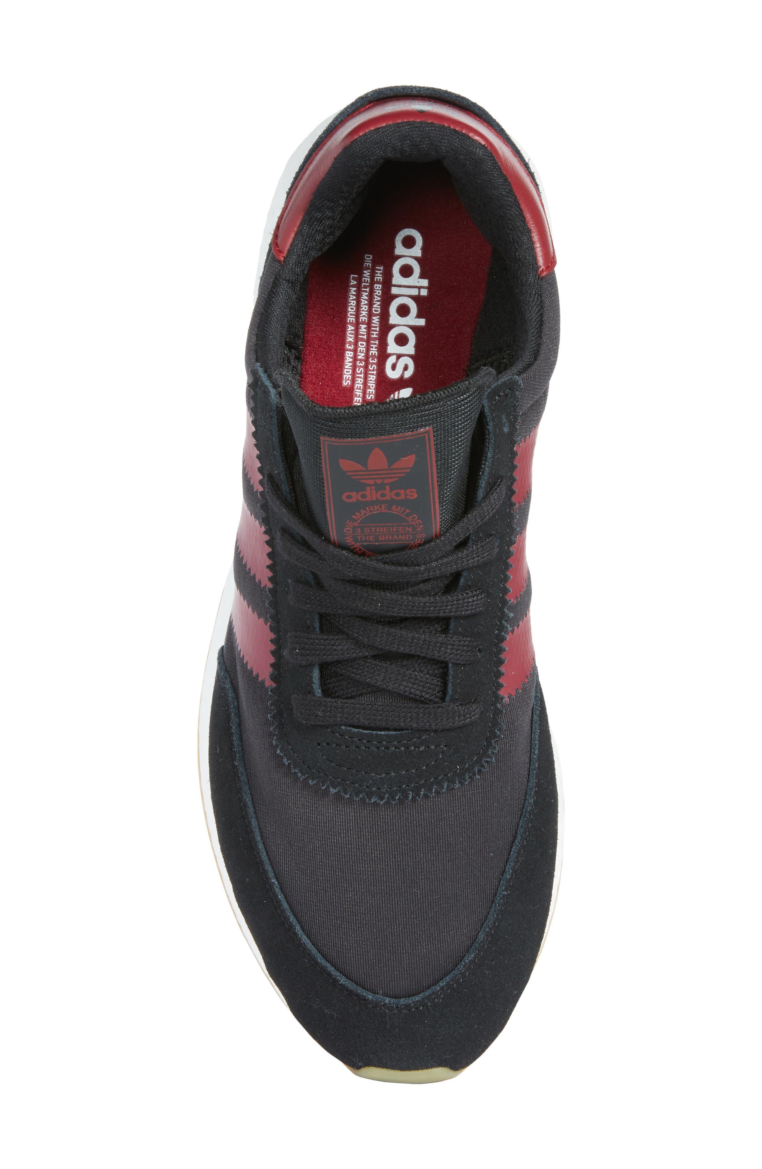 I-5923 Sneaker,                             Alternate thumbnail 5, color,                             BLACK/ BURGUNDY/ WHITE