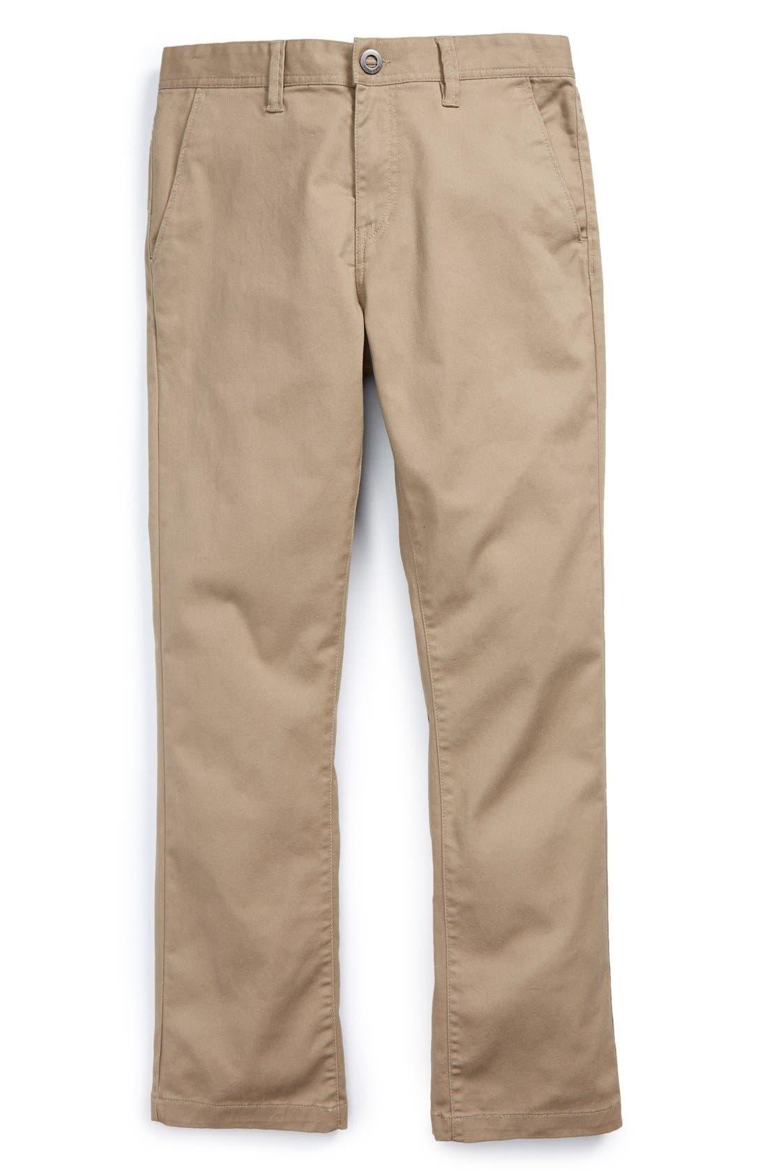 Boys Volcom Modern Stretch Chinos Size 30  Beige