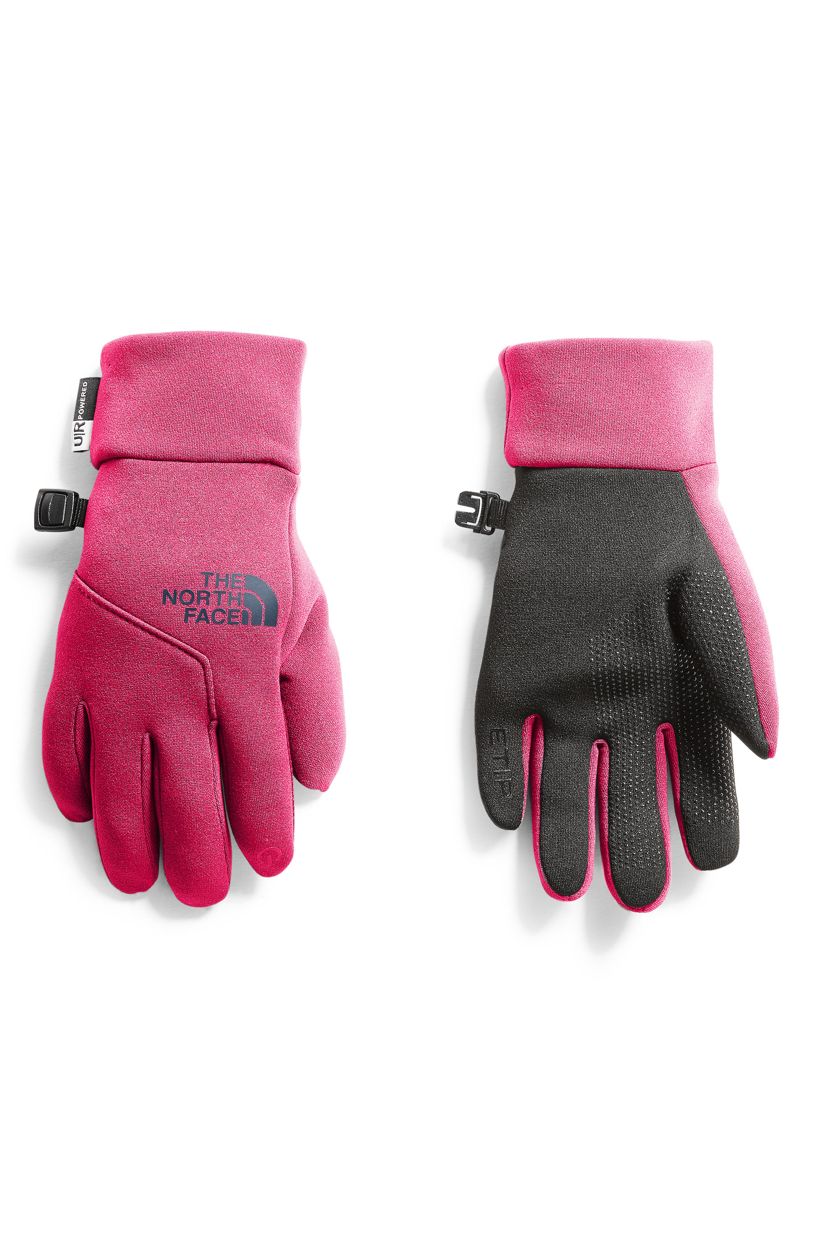Girls The North Face Etip(TM) Gloves Size Large  Pink