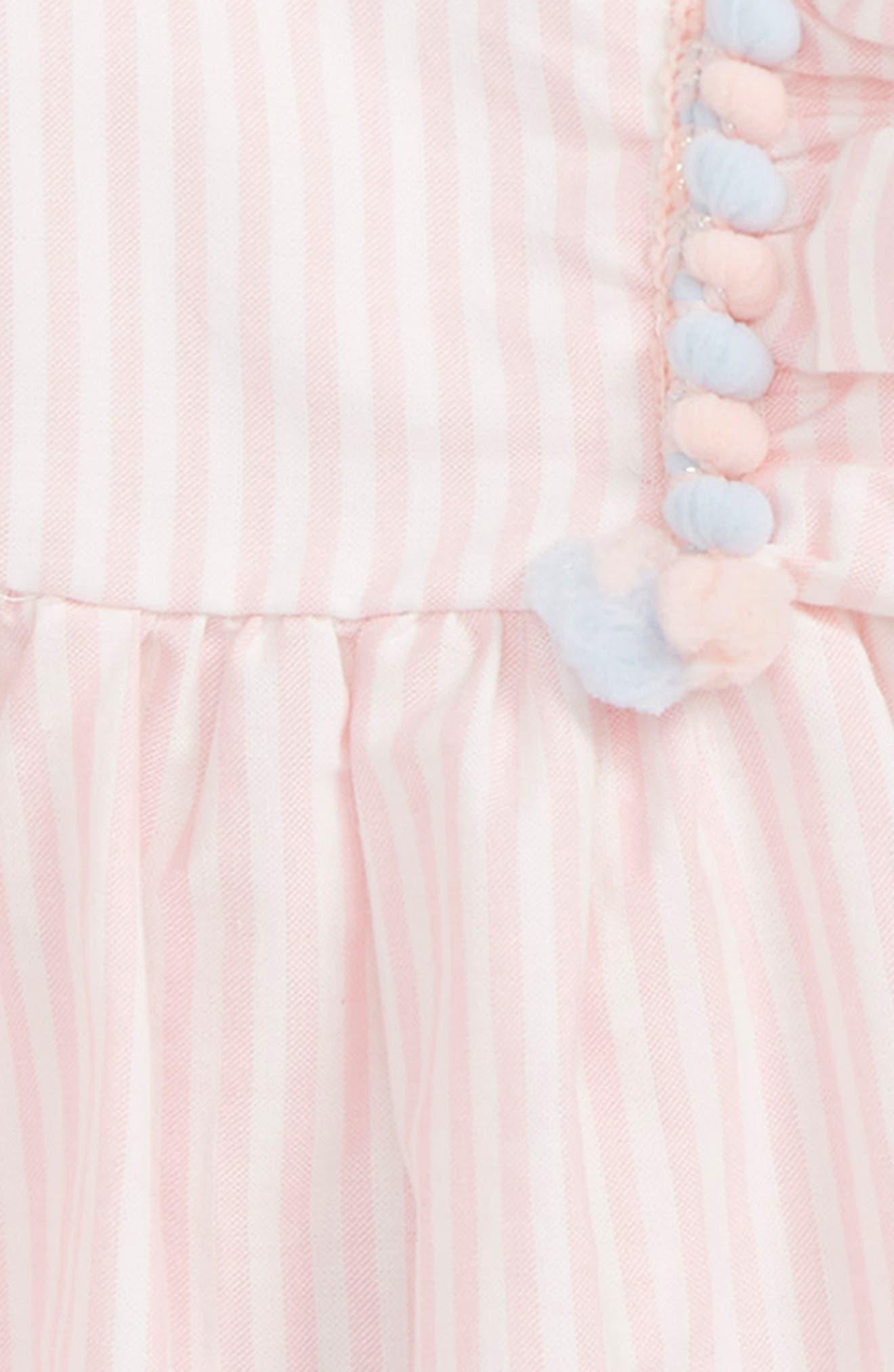 Flutter Sleeve Top & Crop Leggings Set,                             Alternate thumbnail 2, color,                             PINK/ BLUE