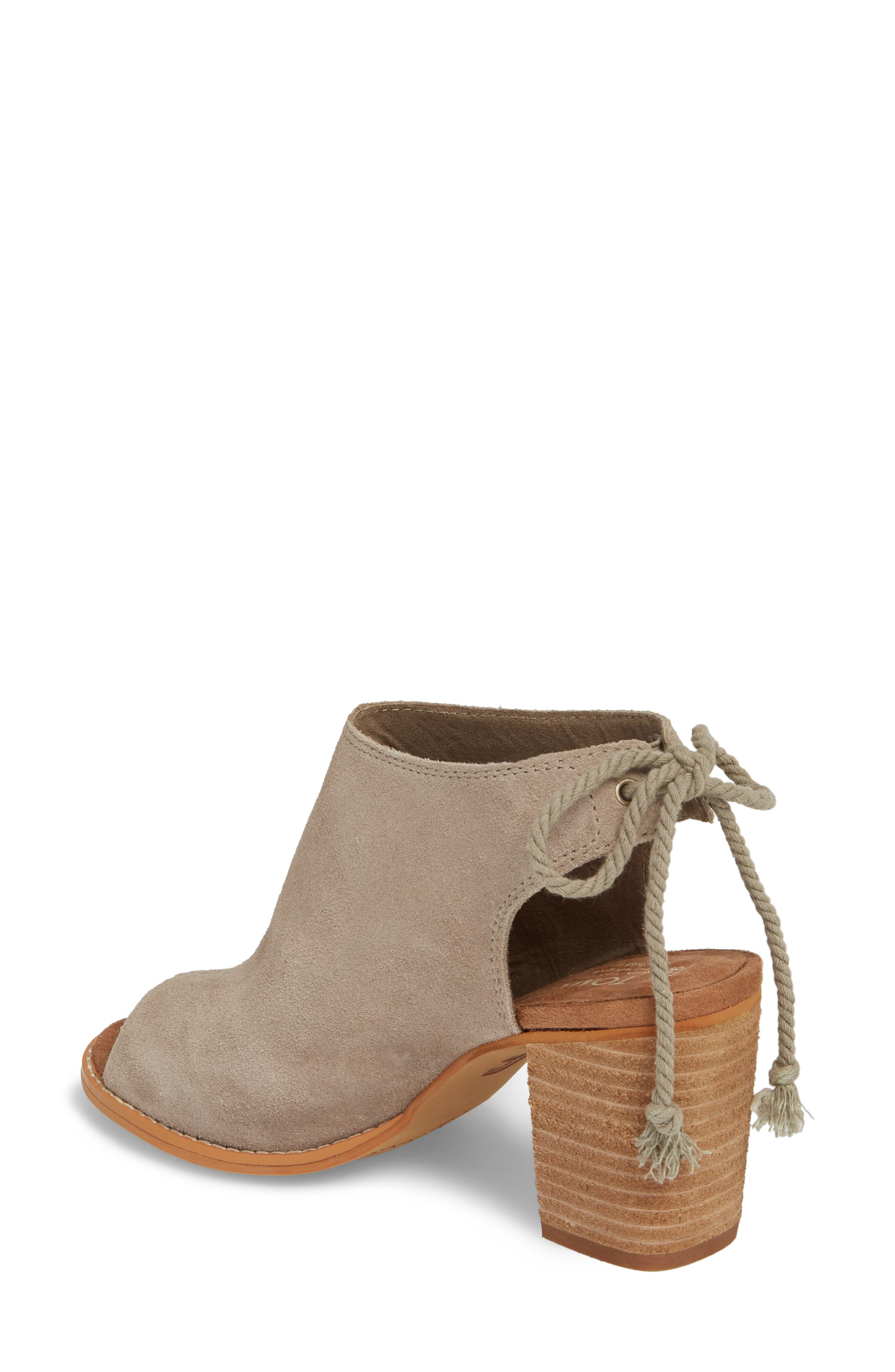 Elba Peep-Toe Bootie,                             Alternate thumbnail 2, color,                             DESERT TAUPE SUEDE