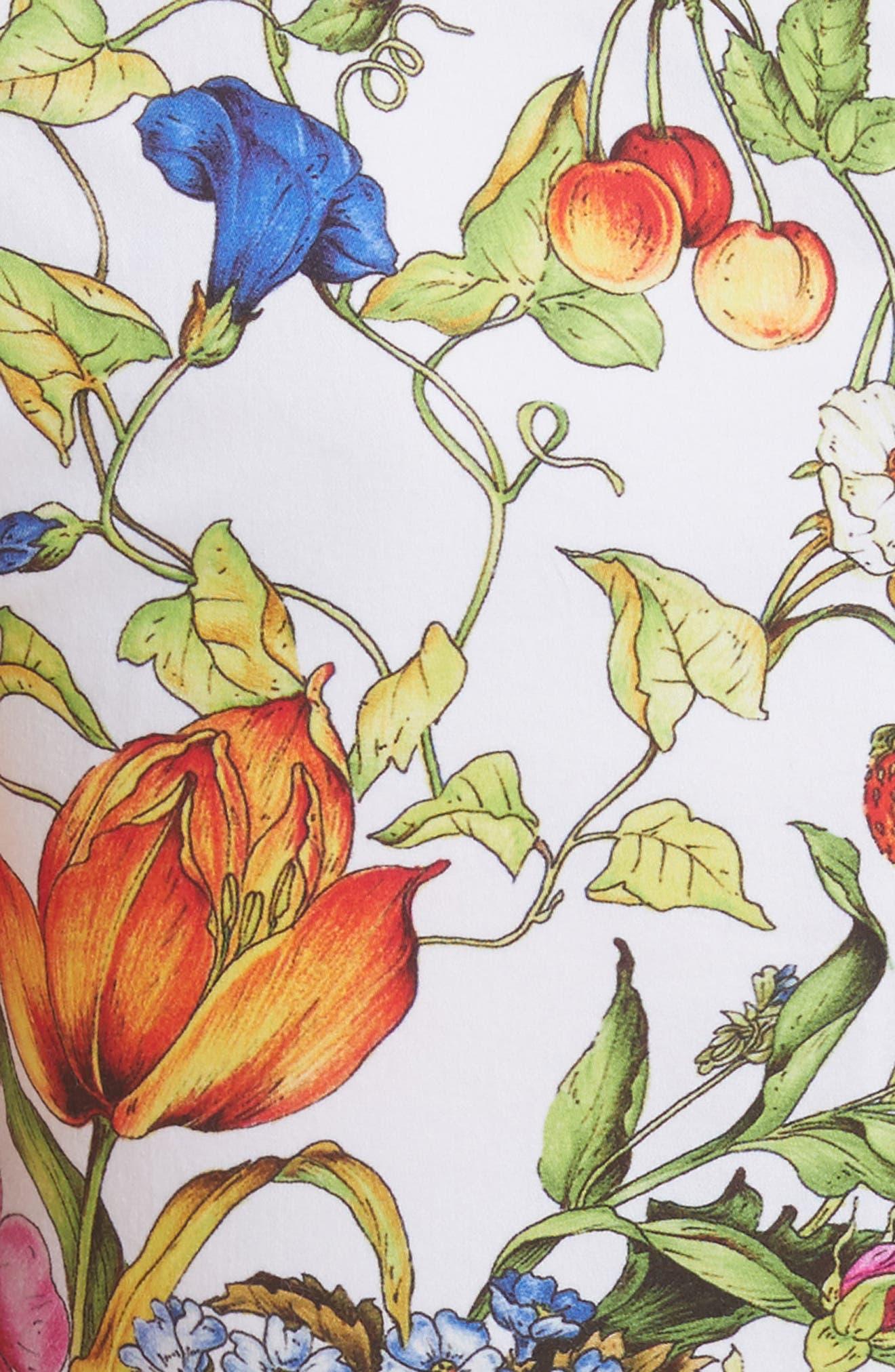 Karissa Floral Stretch Cotton Dress,                             Alternate thumbnail 5, color,                             164