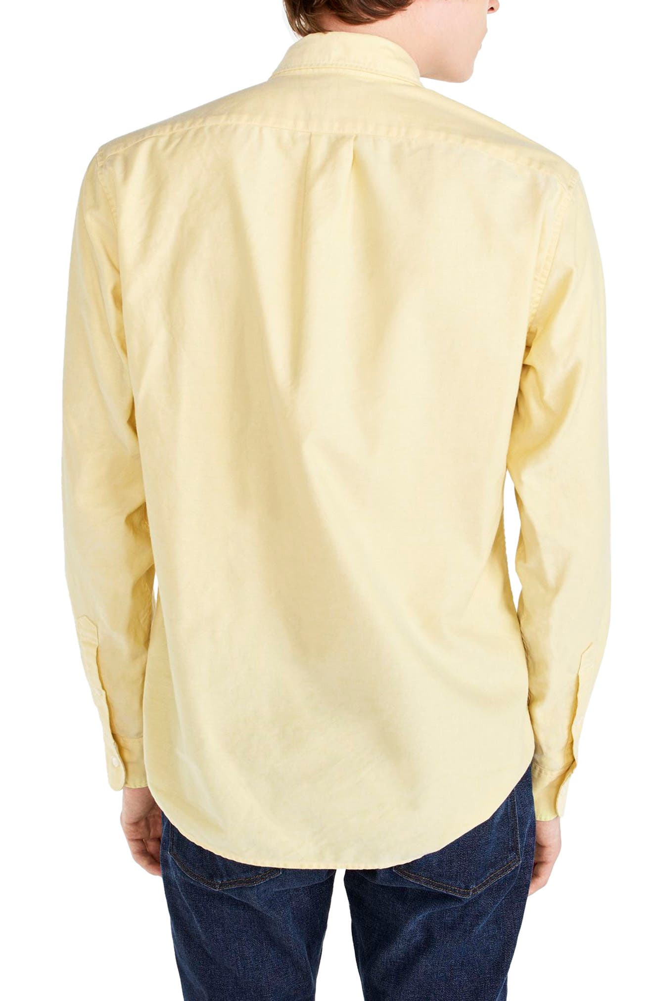 Slim Fit Stretch Pima Cotton Oxford Shirt,                             Alternate thumbnail 10, color,