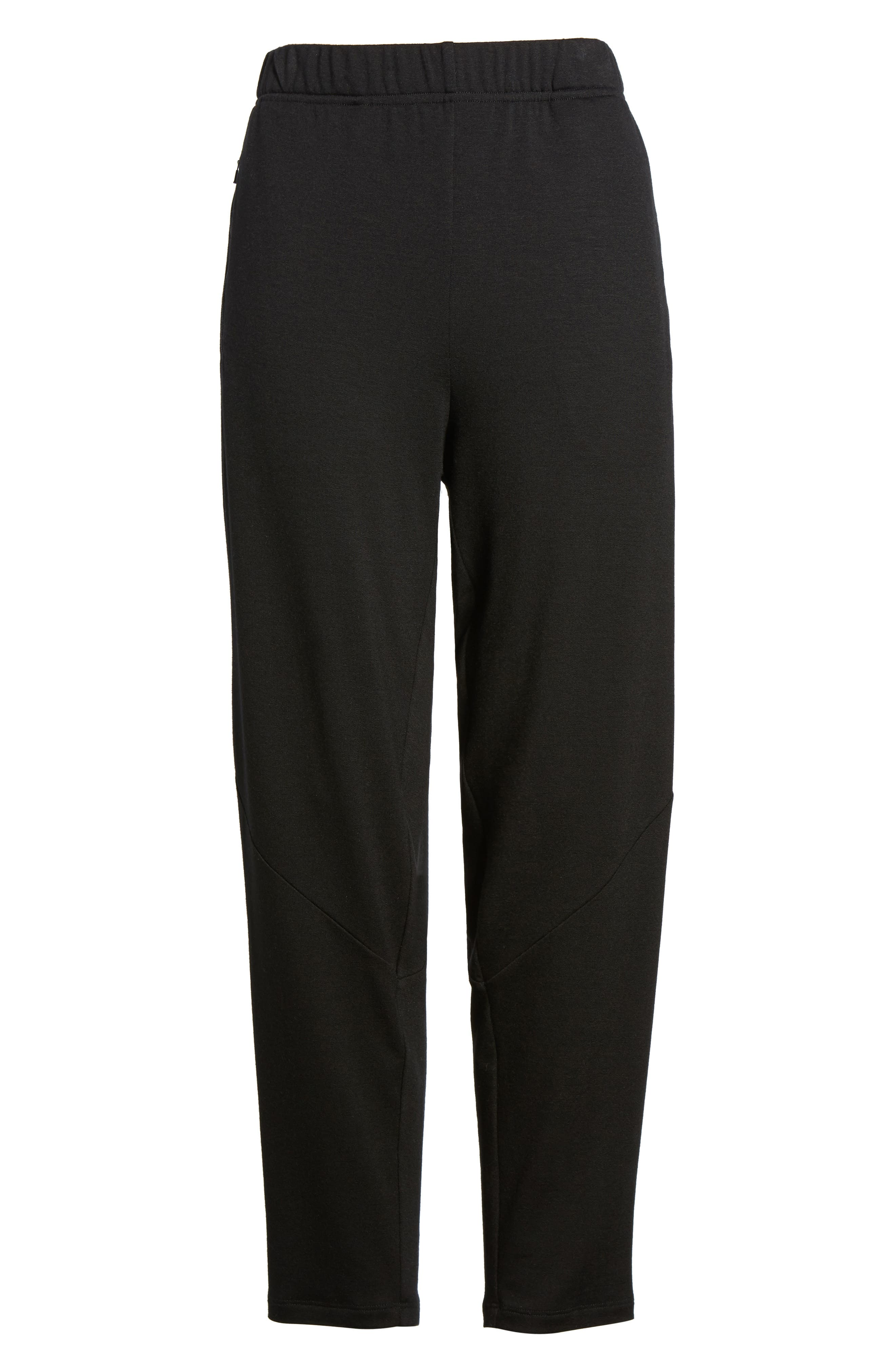 Slouchy Stretch Tencel<sup>®</sup> Lyocell Tapered Pants,                             Alternate thumbnail 7, color,                             001