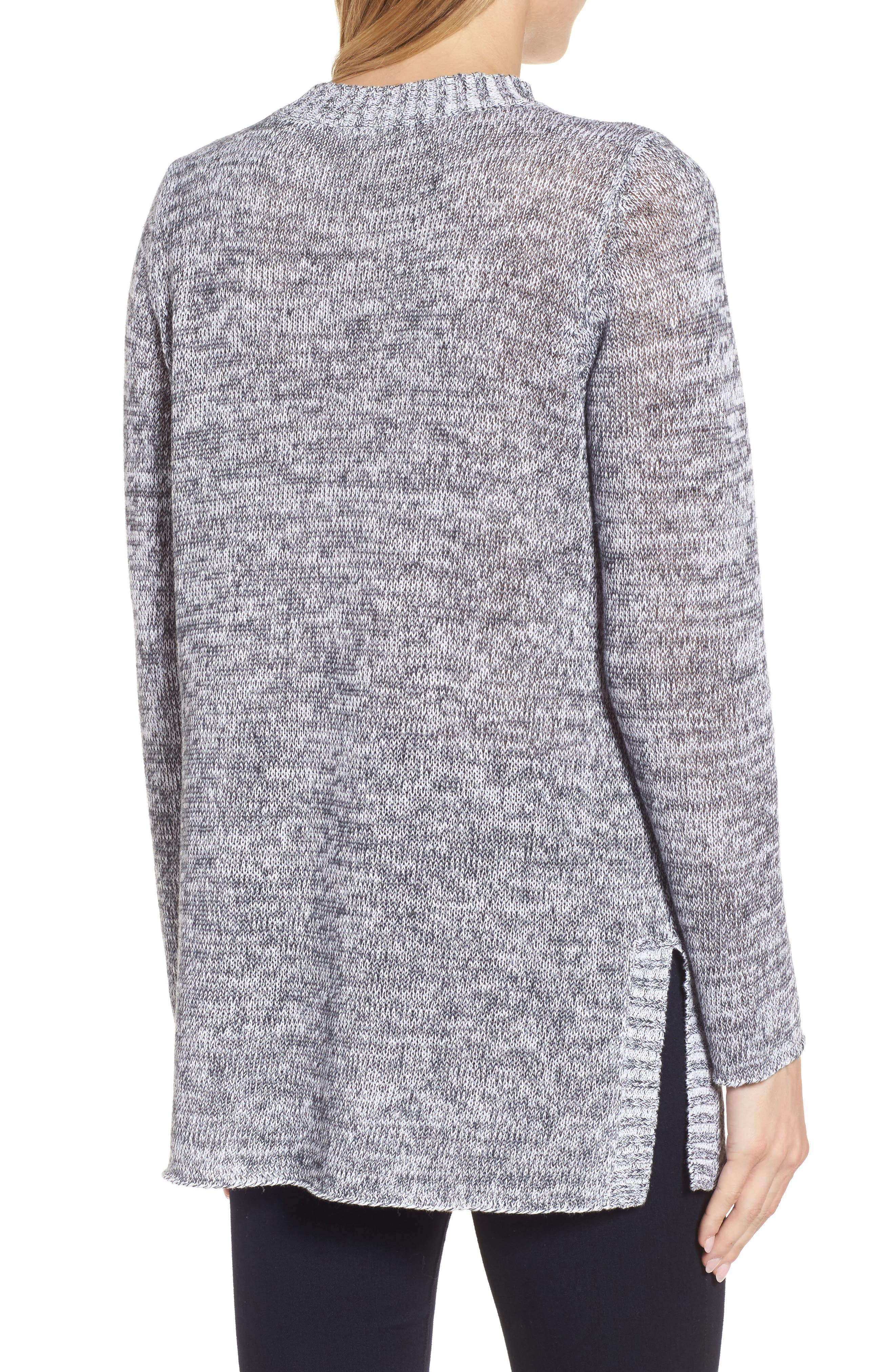 Organic Linen Crewneck Sweater,                             Alternate thumbnail 2, color,