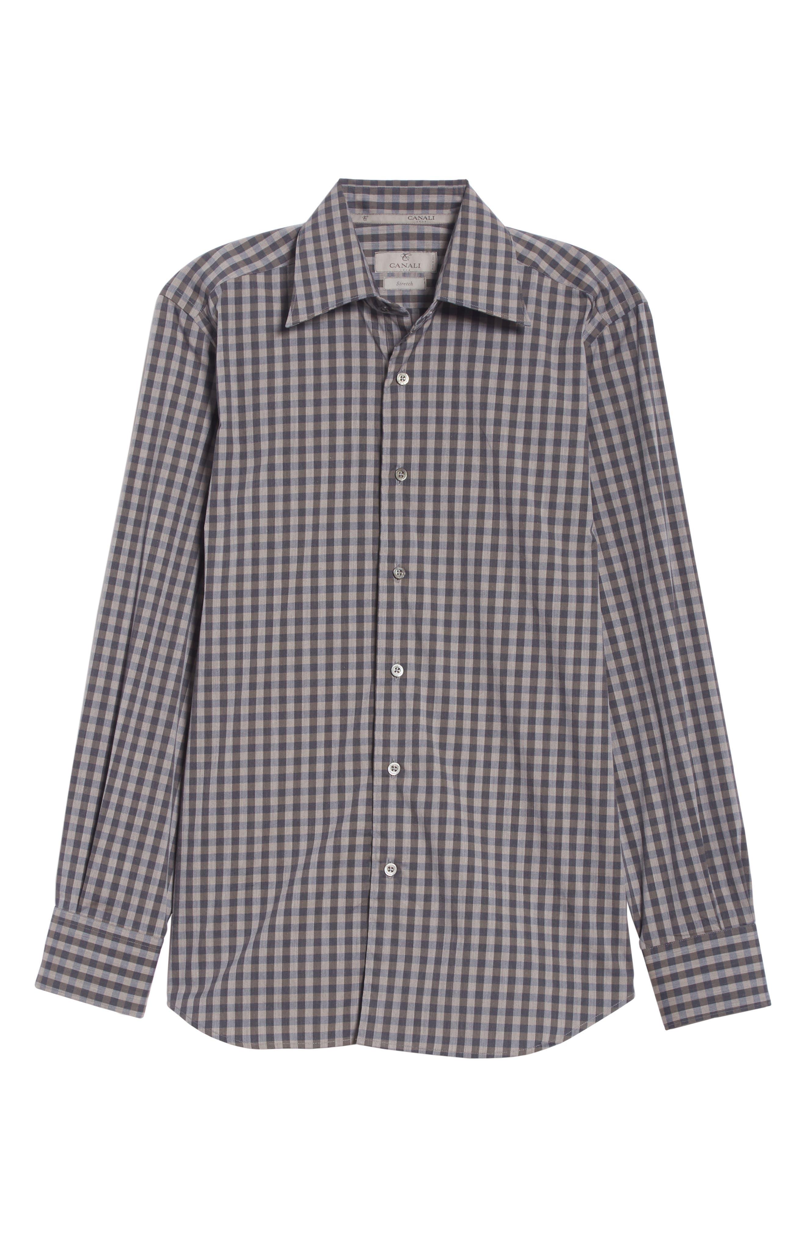 Regular Fit Stretch Check Sport Shirt,                             Alternate thumbnail 6, color,                             200