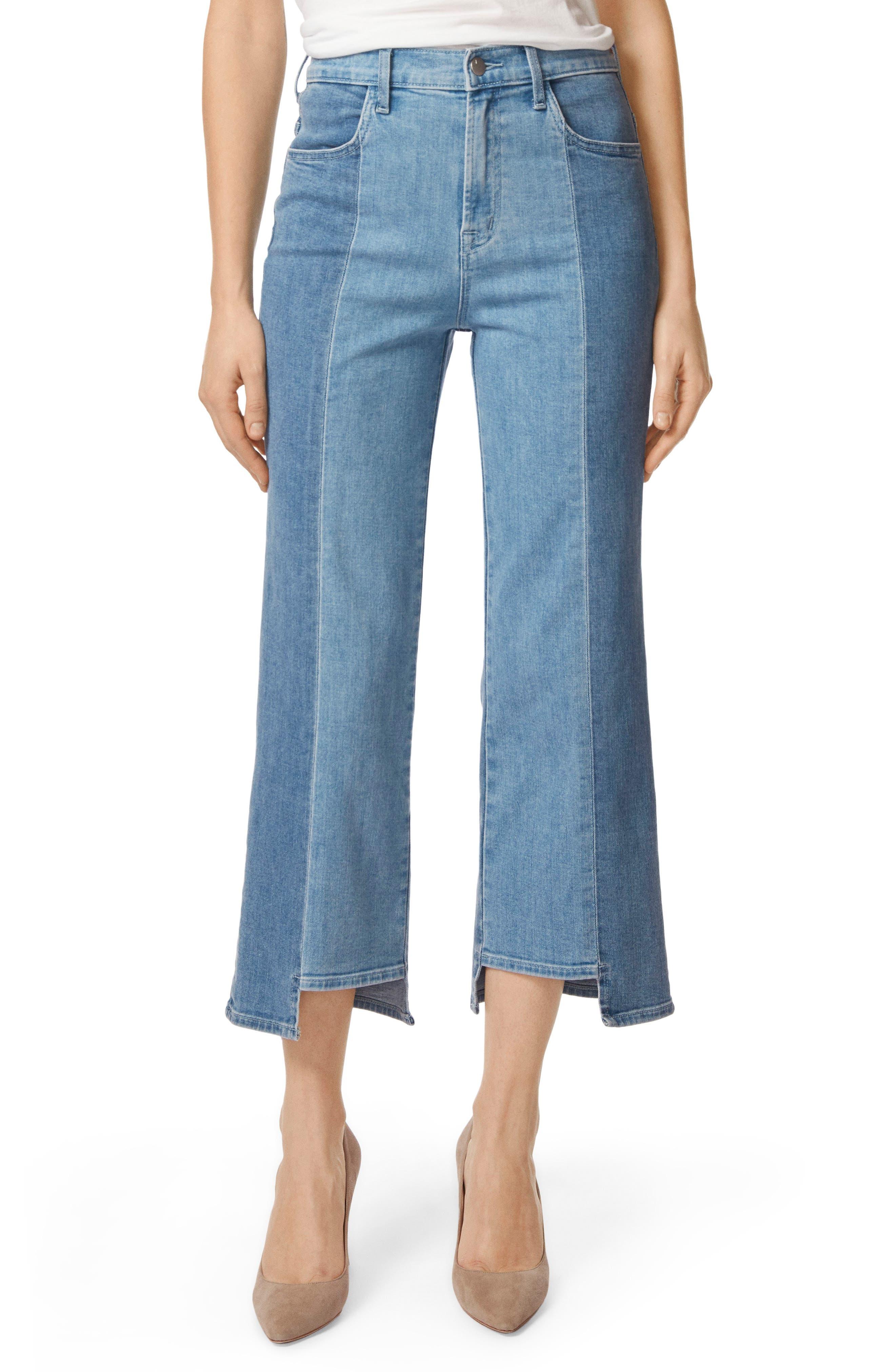 Joan High Waist Crop Wide Leg Jeans,                         Main,                         color, 457