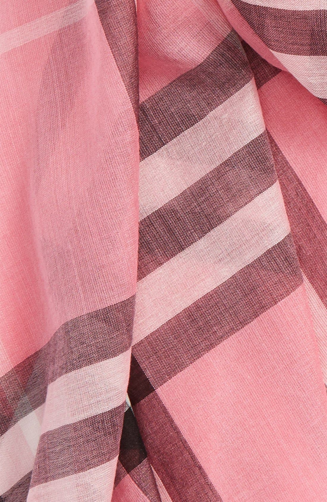 Giant Check Print Wool & Silk Scarf,                             Alternate thumbnail 159, color,