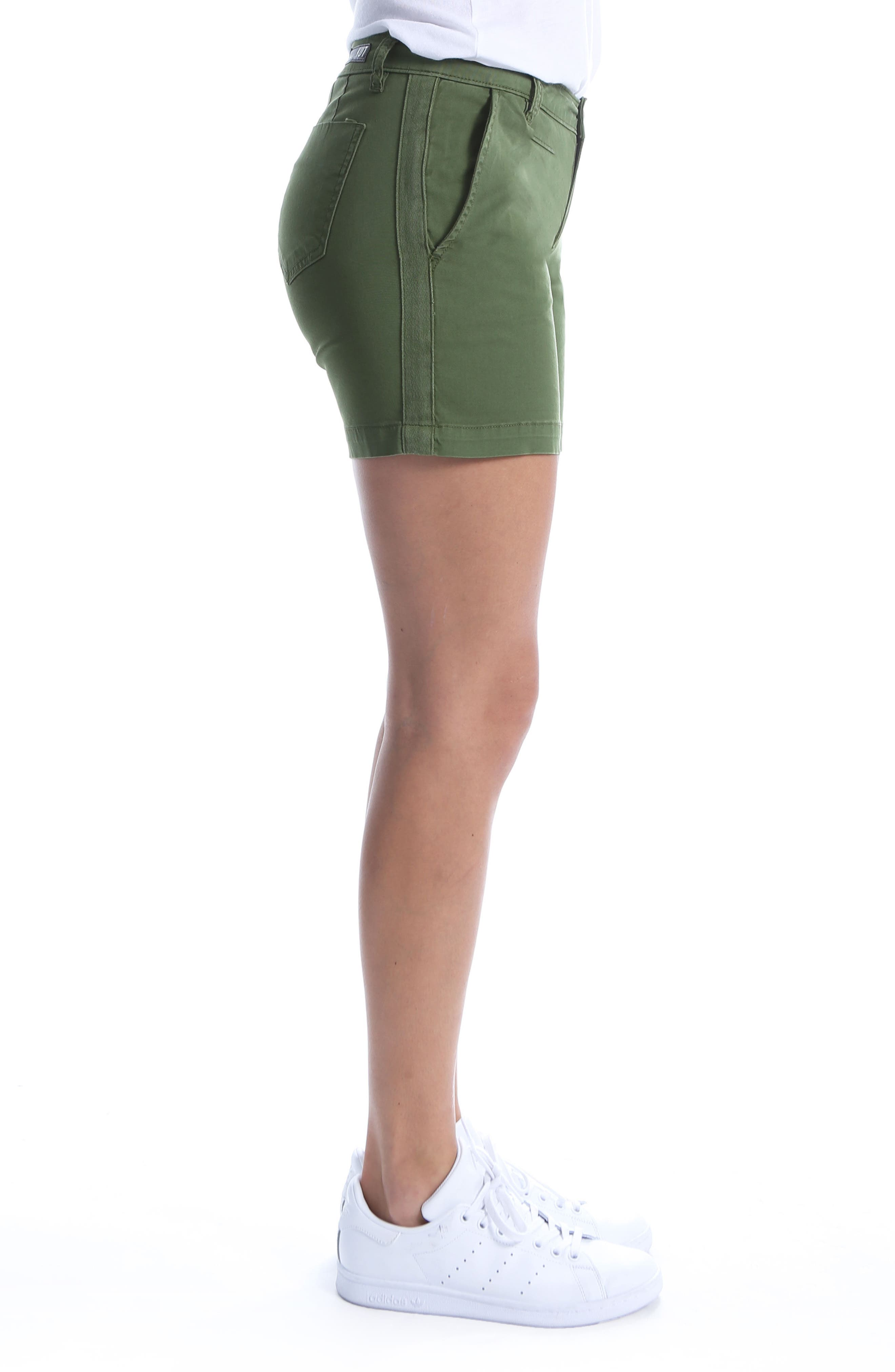 Stretch Cotton Roll Up Shorts,                             Alternate thumbnail 3, color,