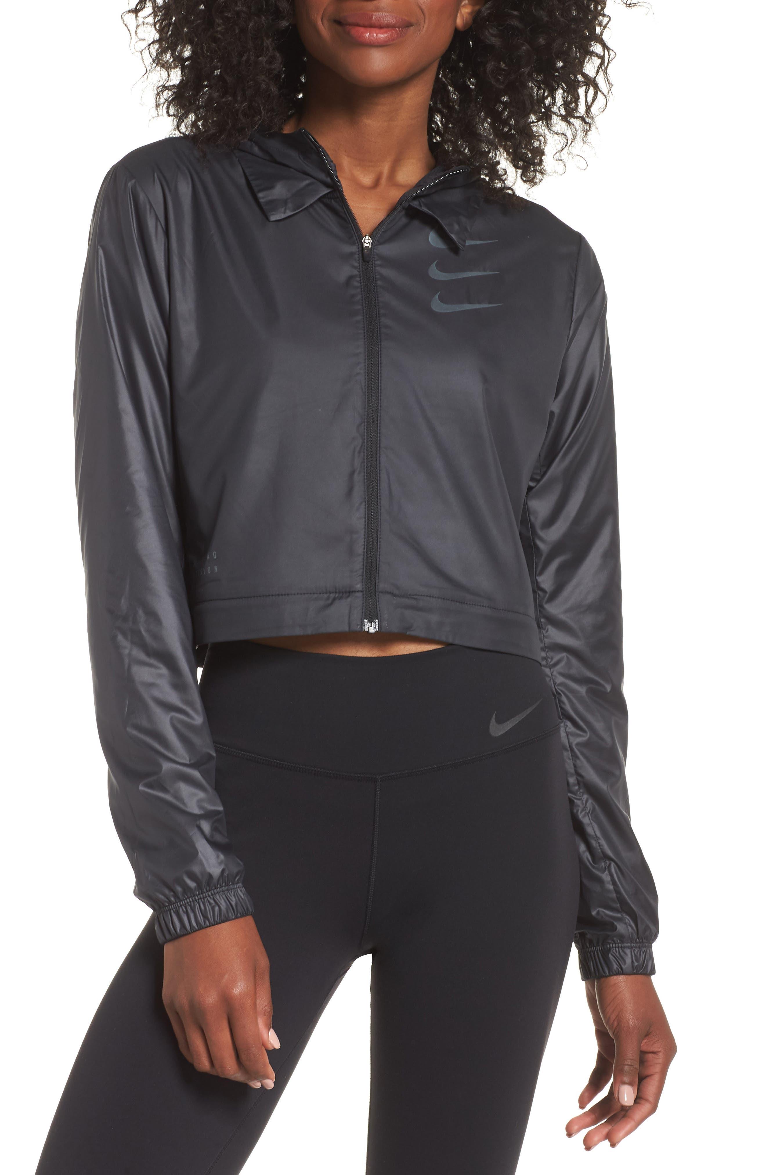 Women's Convertible Hooded Running Jacket,                             Alternate thumbnail 2, color,                             010