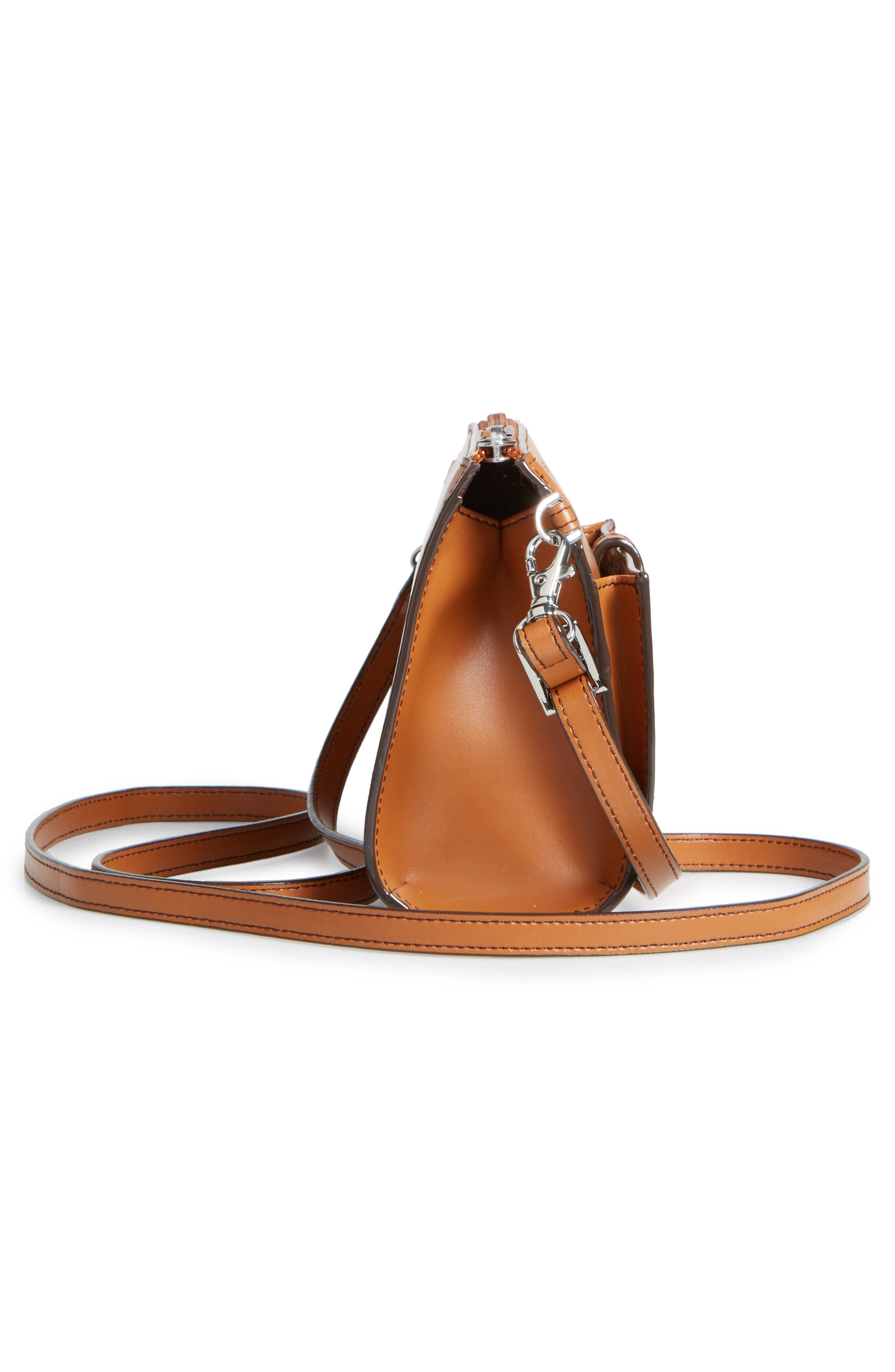 Audrey Under Lock & Key Vicky Convertible Leather Crossbody Bag,                             Alternate thumbnail 5, color,                             TOFFEE