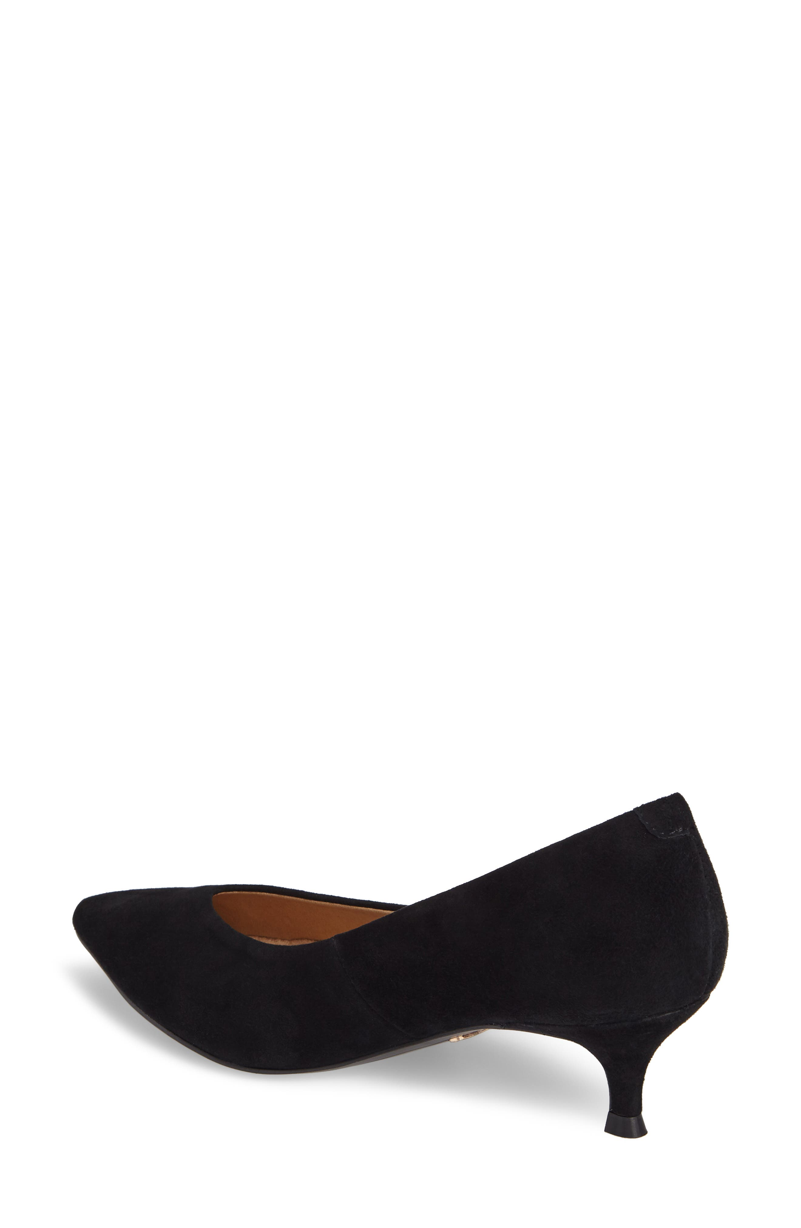 Josie Kitten Heel Pump,                             Alternate thumbnail 2, color,                             BLACK SUEDE