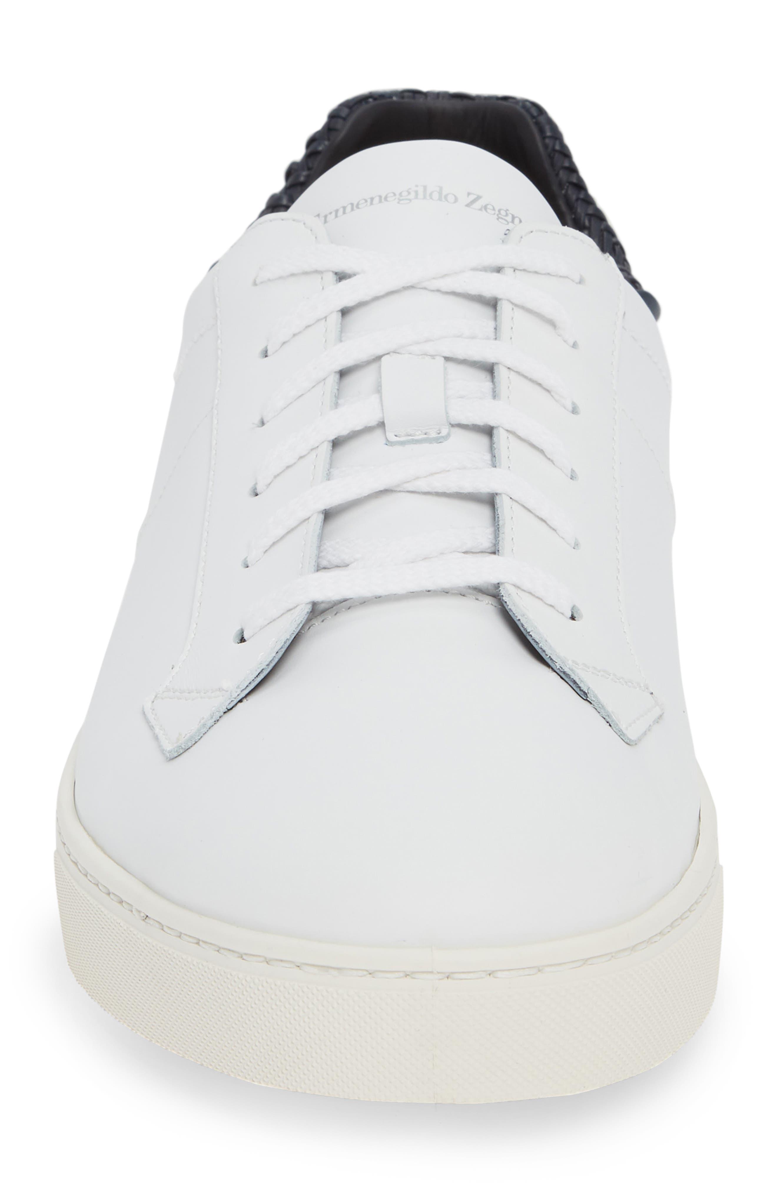 Sneaker,                             Alternate thumbnail 4, color,                             WHITE/ BLUE