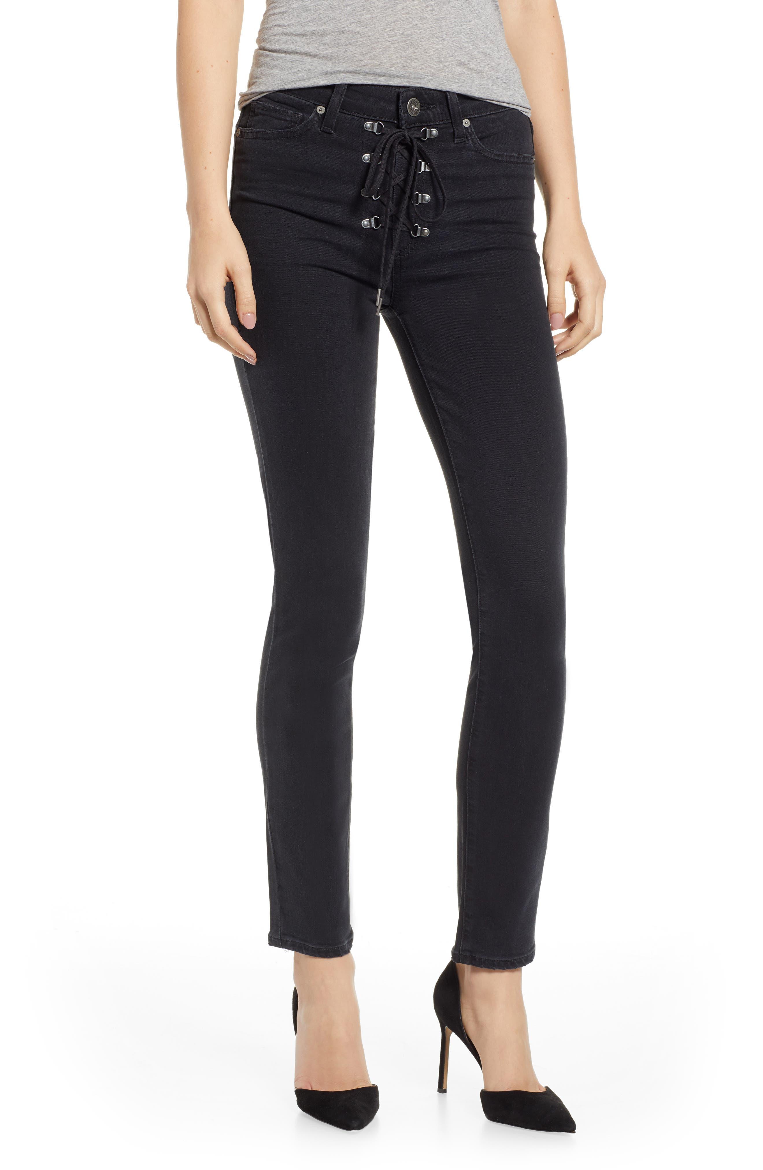 Transcend - Hoxton High Waist Ankle Peg Jeans,                         Main,                         color, FADED NOIR