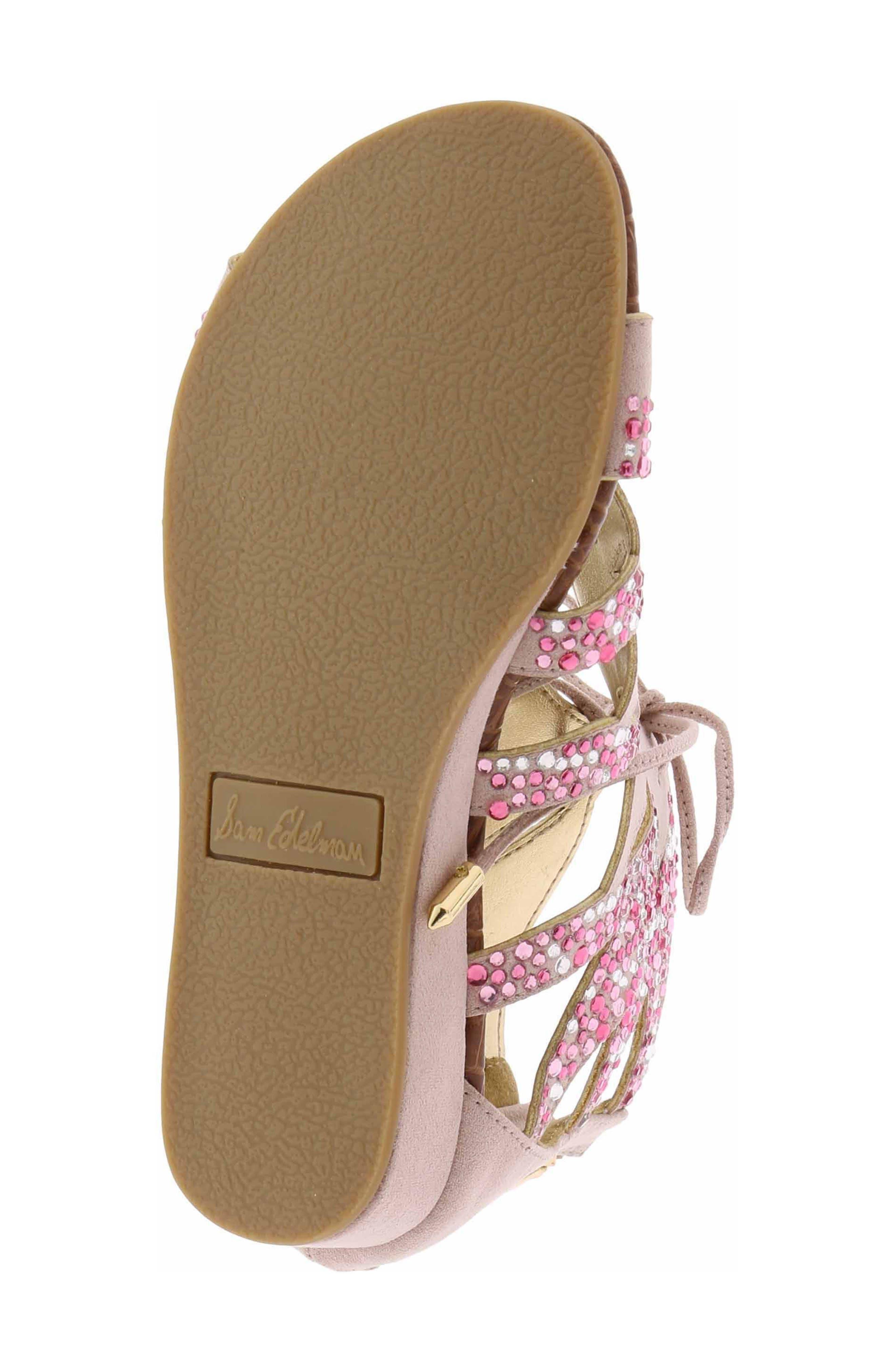 Danica Crystal Embellished Sandal,                             Alternate thumbnail 4, color,                             654