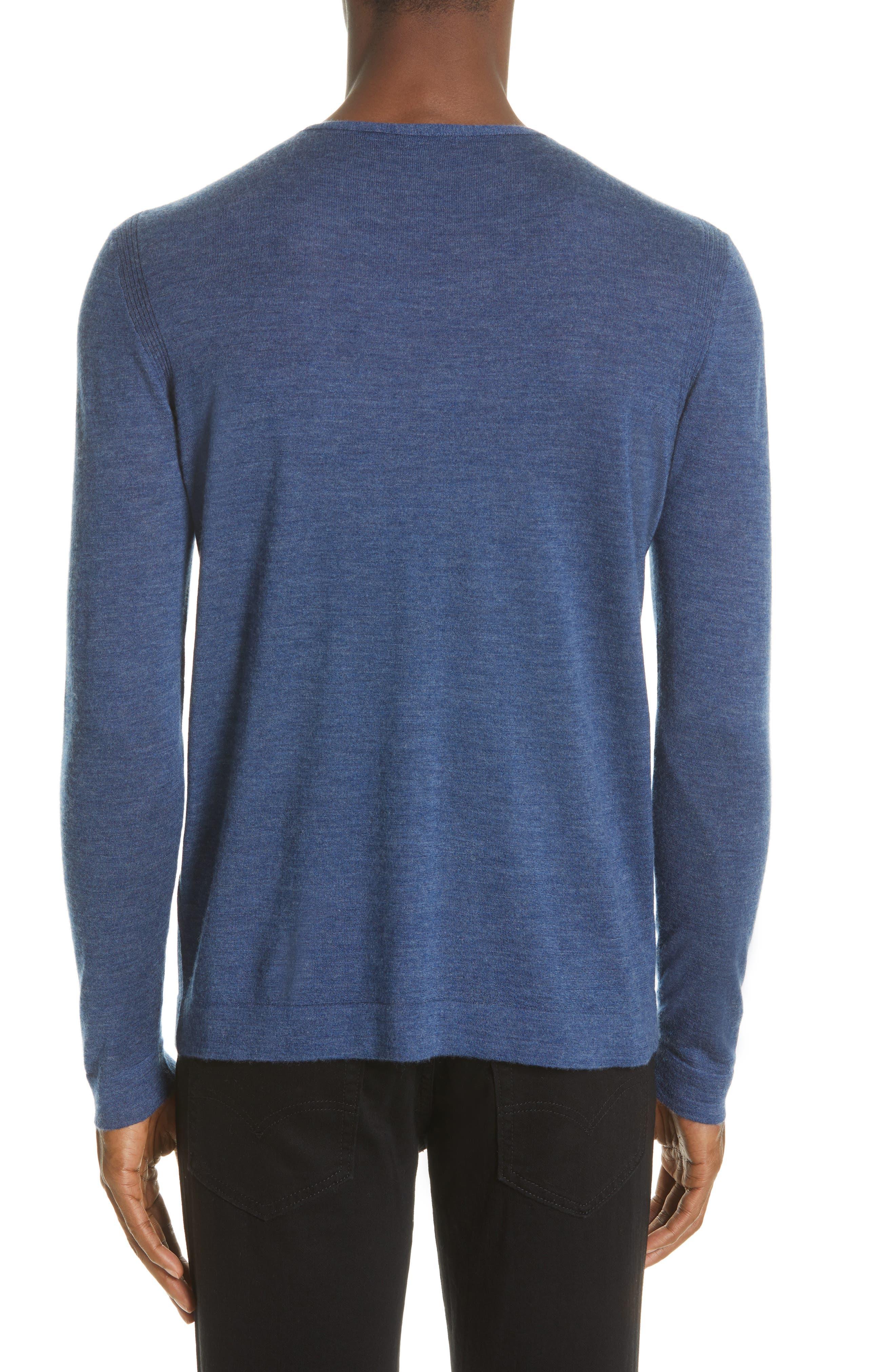 Cashmere Crewneck Sweater,                             Alternate thumbnail 2, color,                             SAPPHIRE