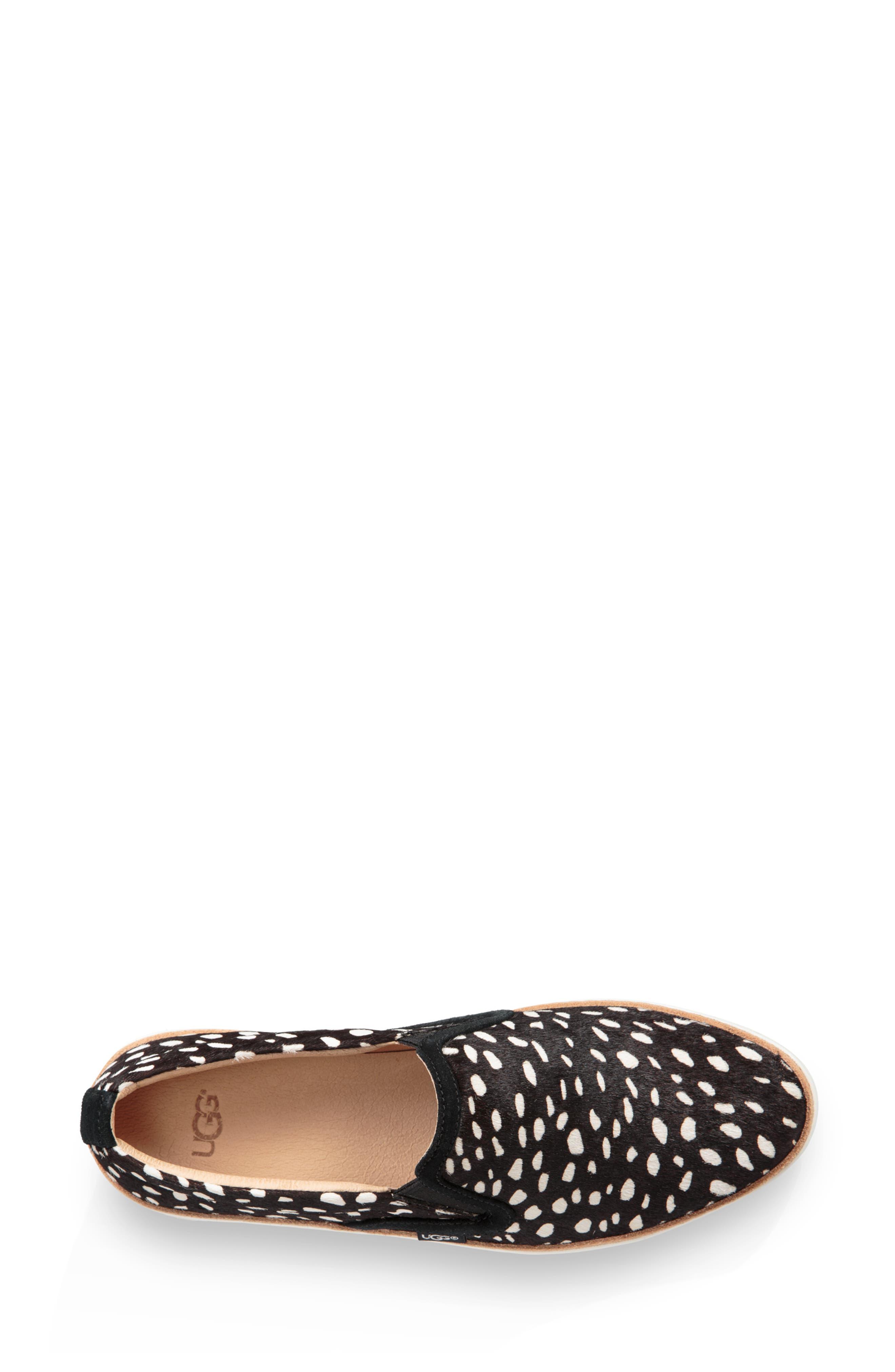 Soleda Genuine Calf Hair Slip-On Sneaker,                             Alternate thumbnail 4, color,                             BLACK