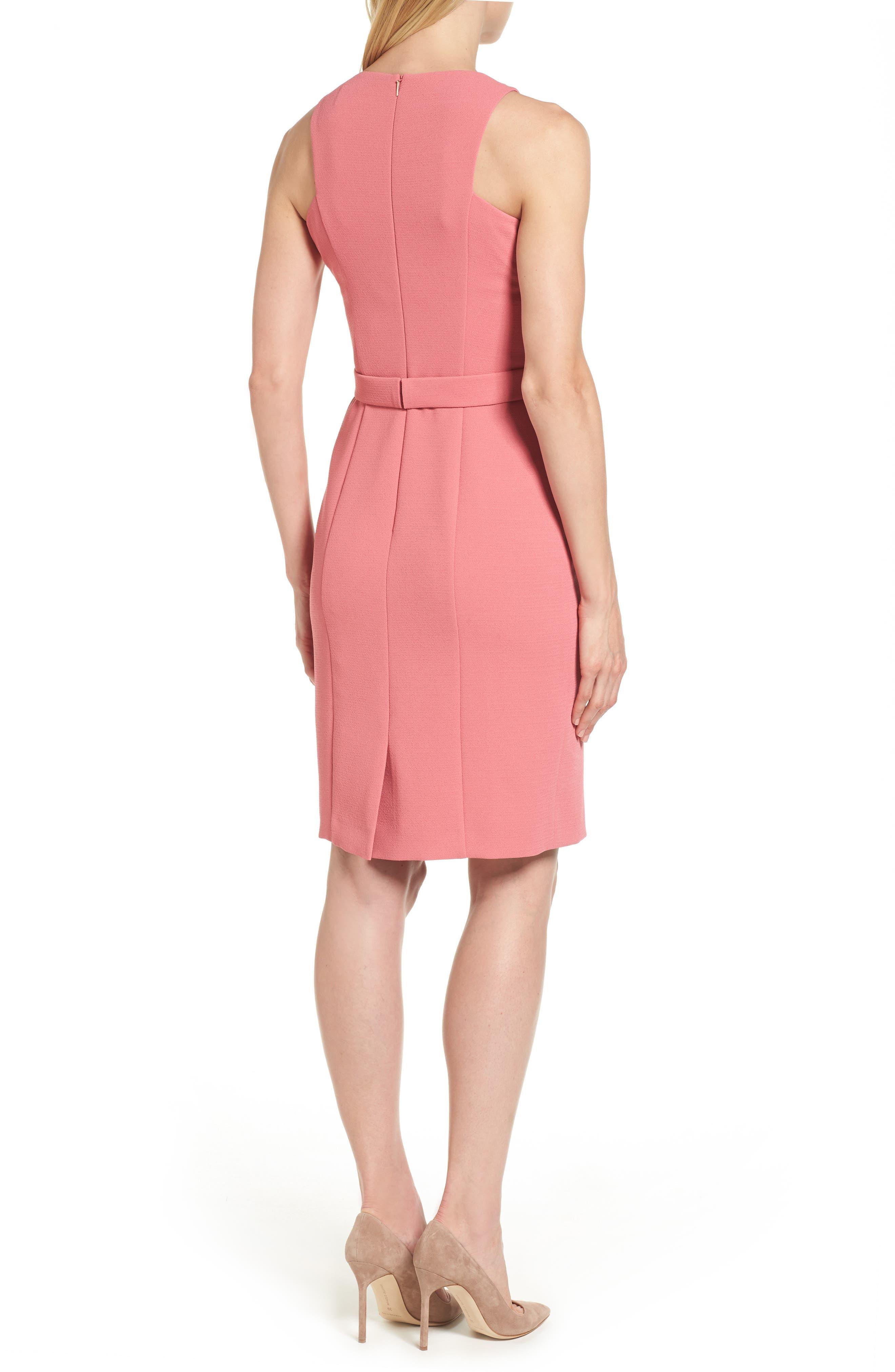 Dalanea Belted Sheath Dress,                             Alternate thumbnail 2, color,