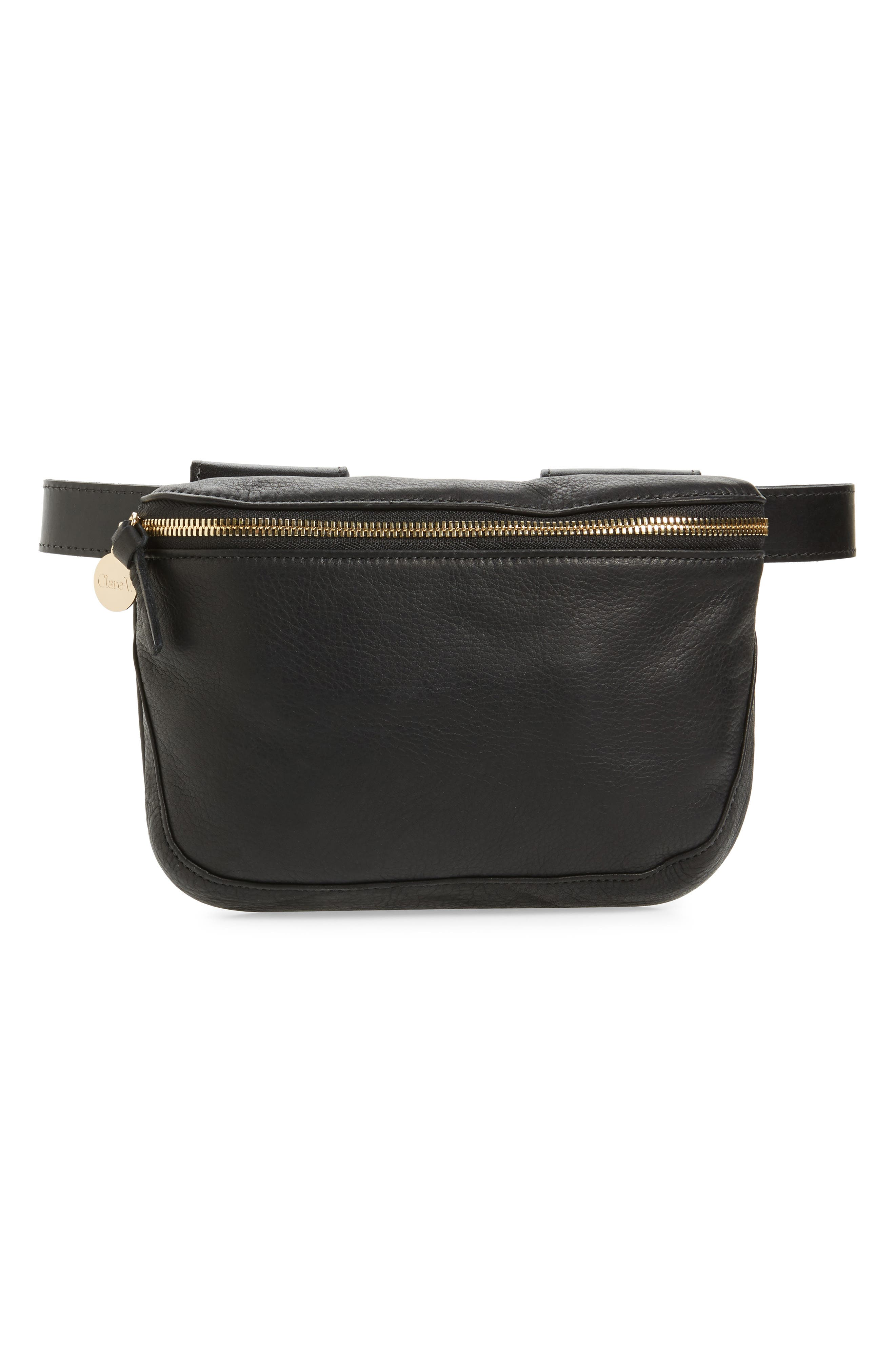 Leather Fanny Pack,                         Main,                         color,