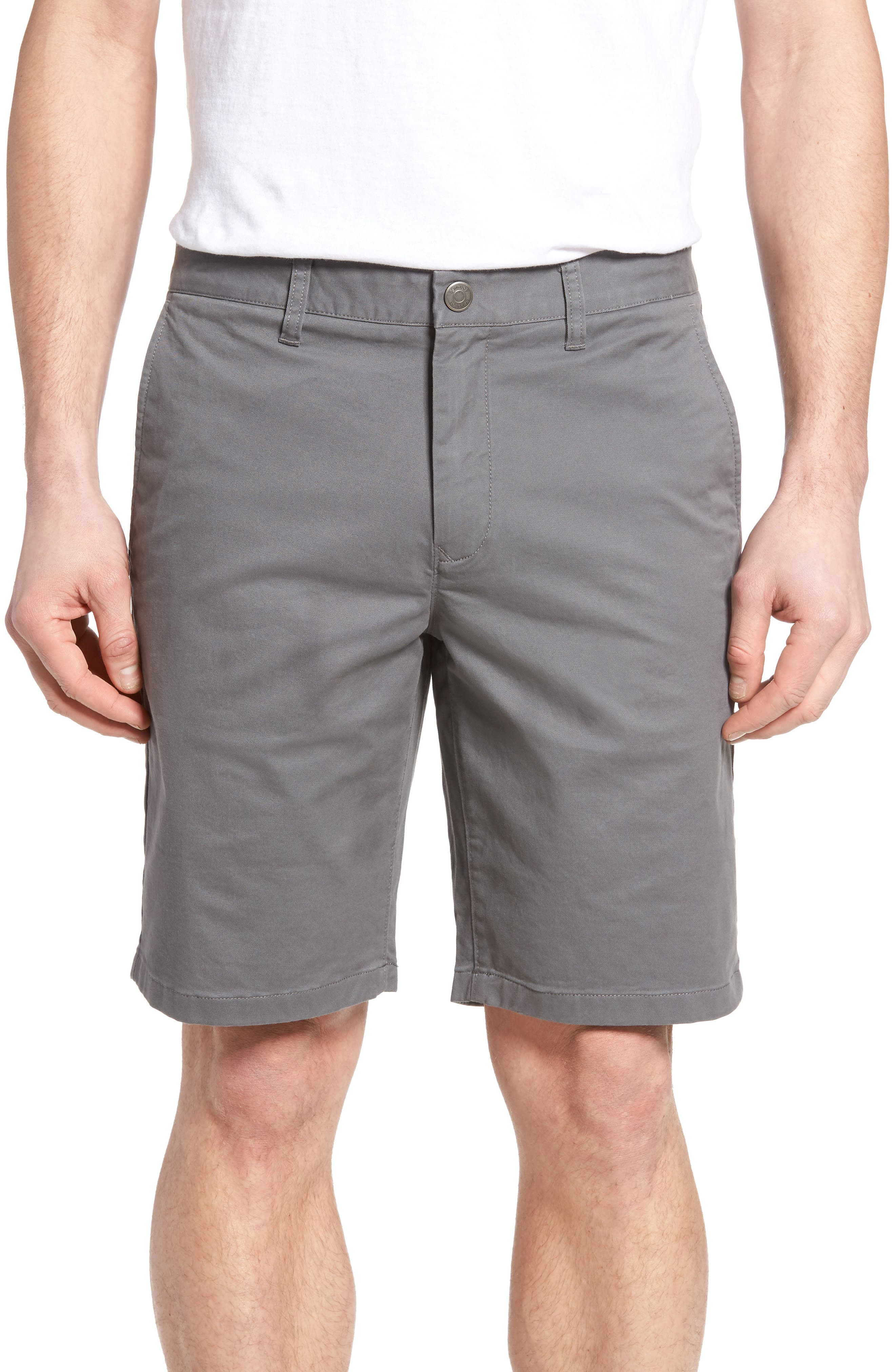 Stretch Washed Chino 9-Inch Shorts,                         Main,                         color, GRAPHITES